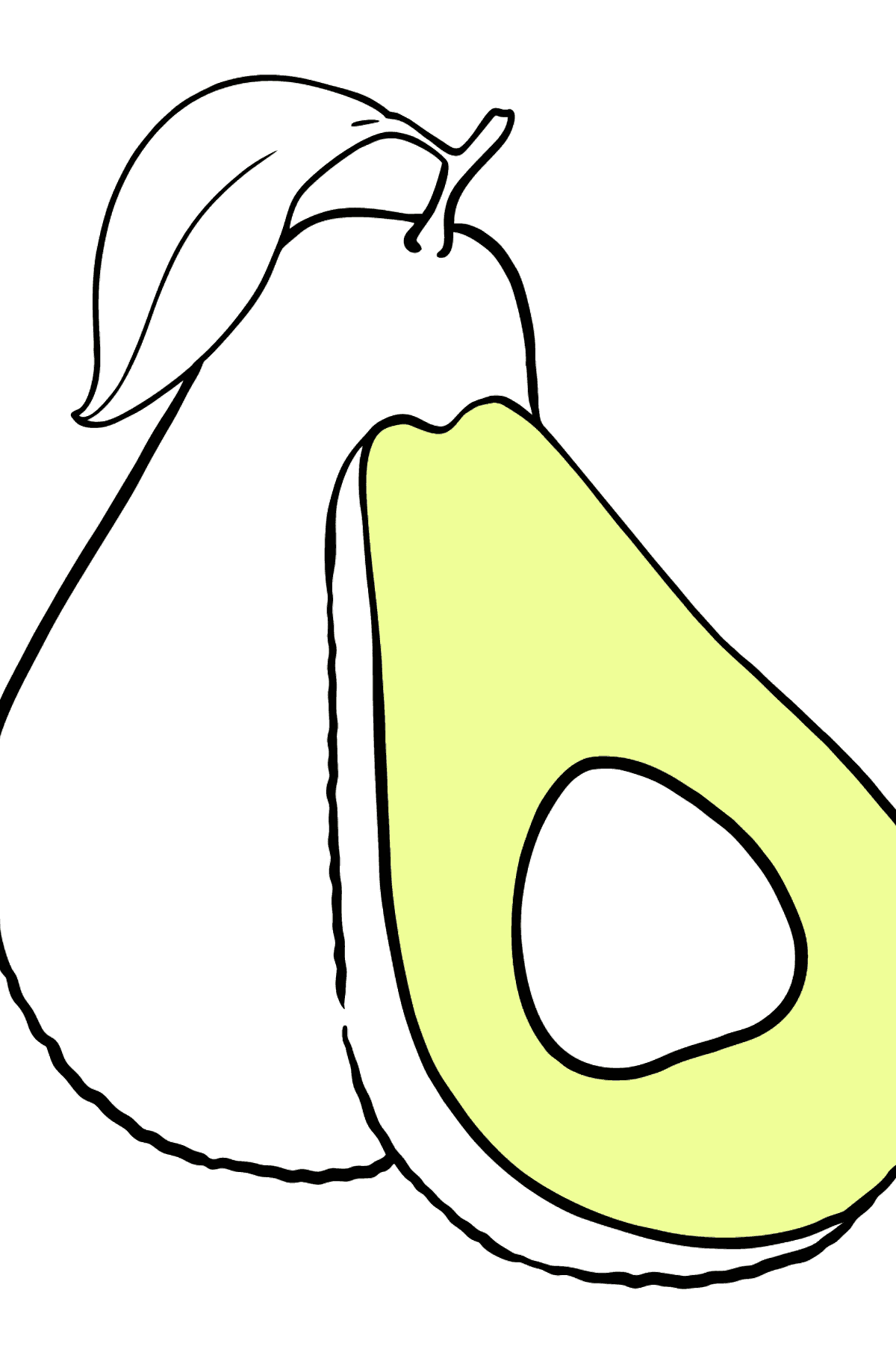 Avocado coloring page - Coloring Pages for Kids