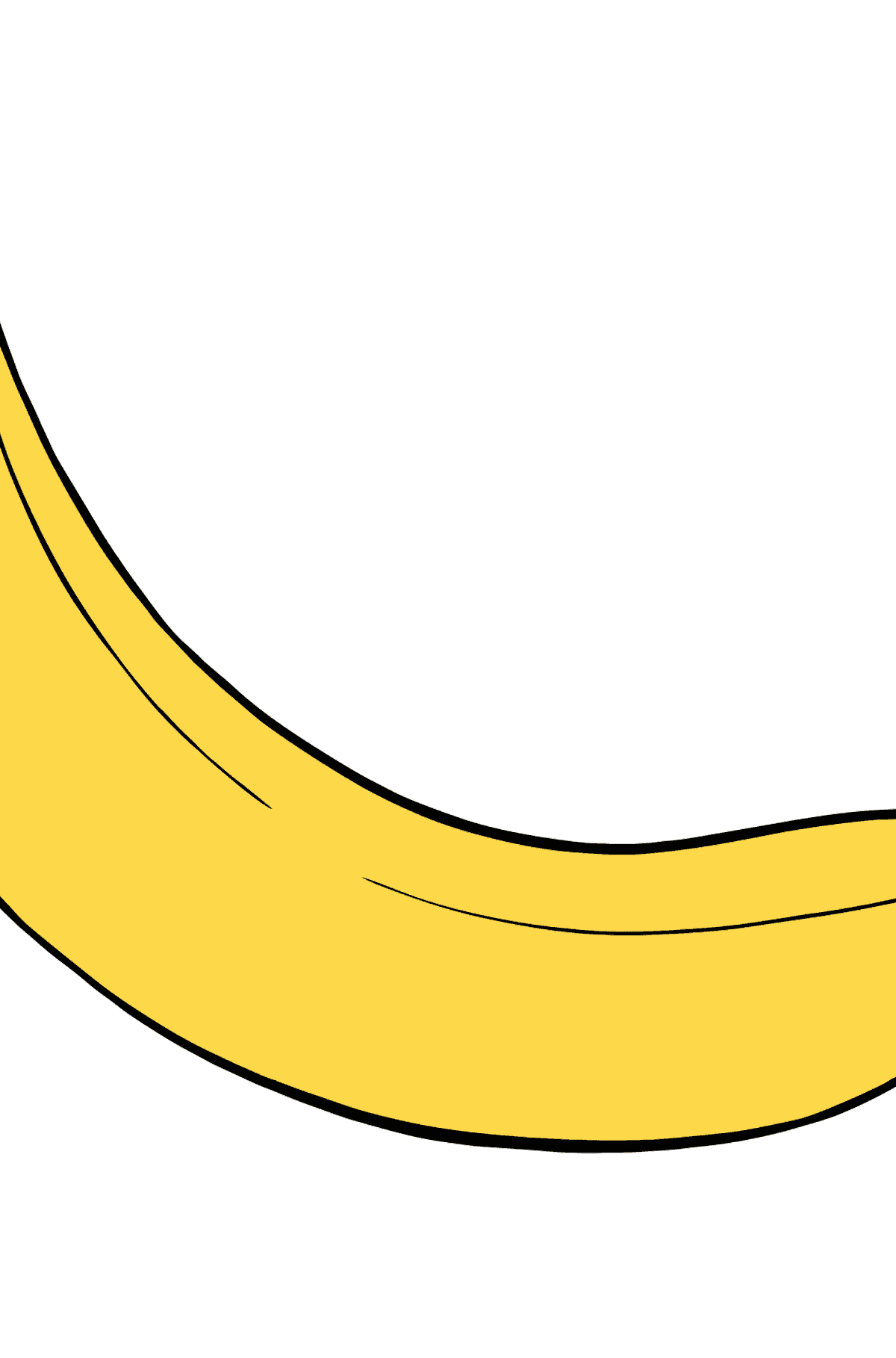 Banana coloring page - Coloring Pages for Kids
