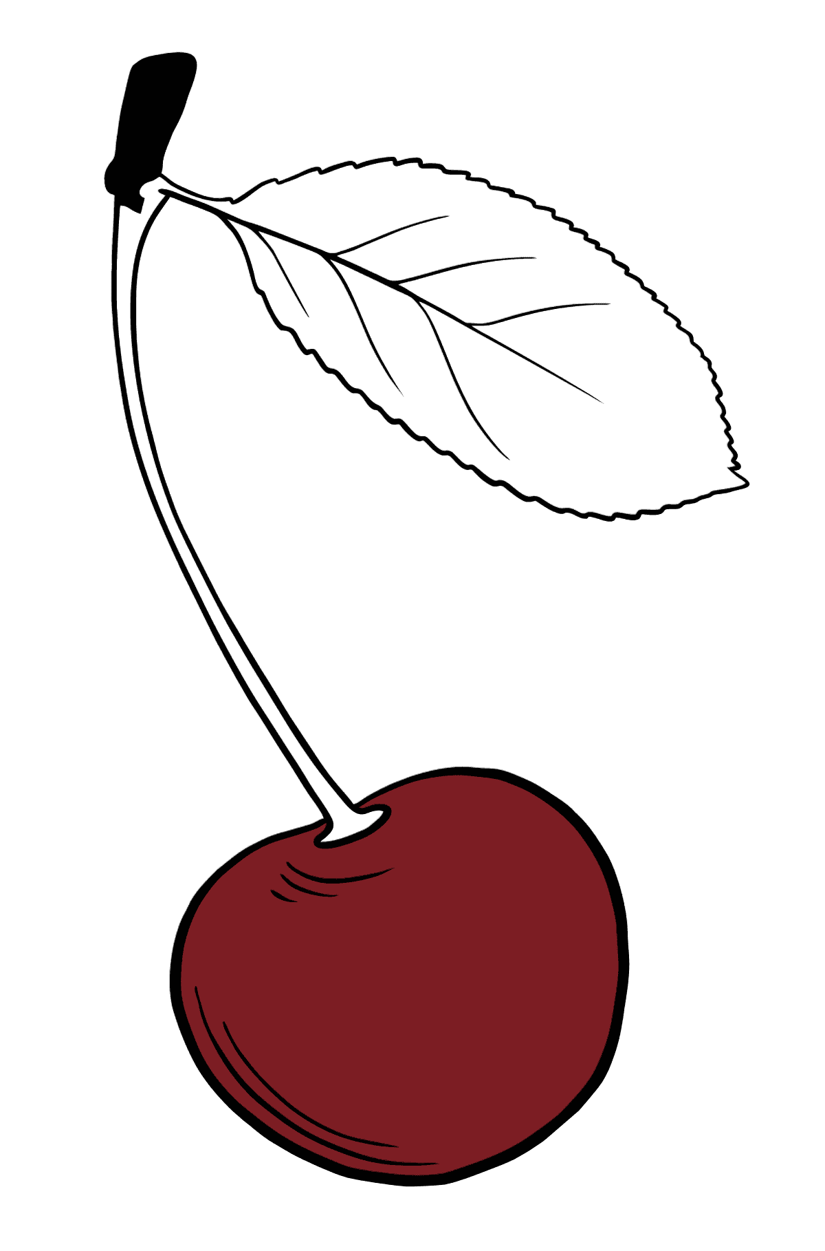 Cherry coloring page - Coloring Pages for Kids
