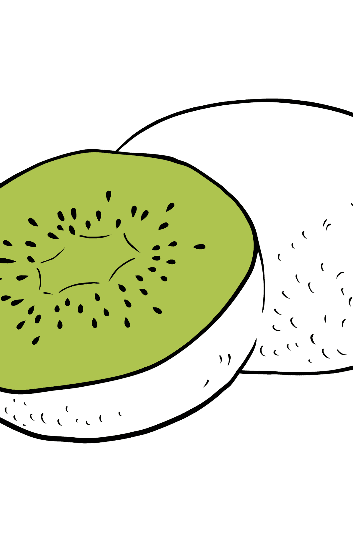 Kiwi coloring page - Coloring Pages for Kids