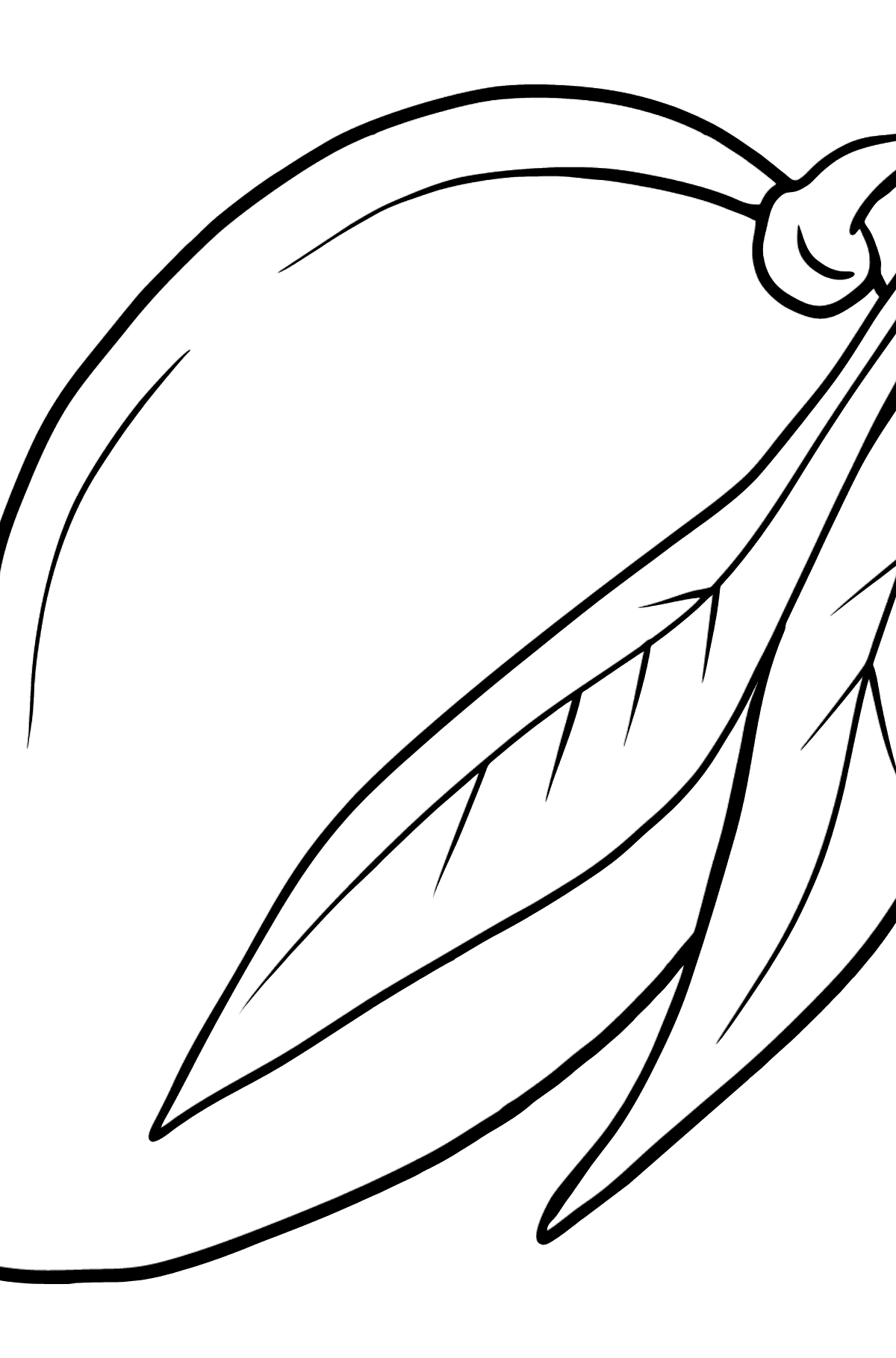 Mango coloring page - Coloring Pages for Kids