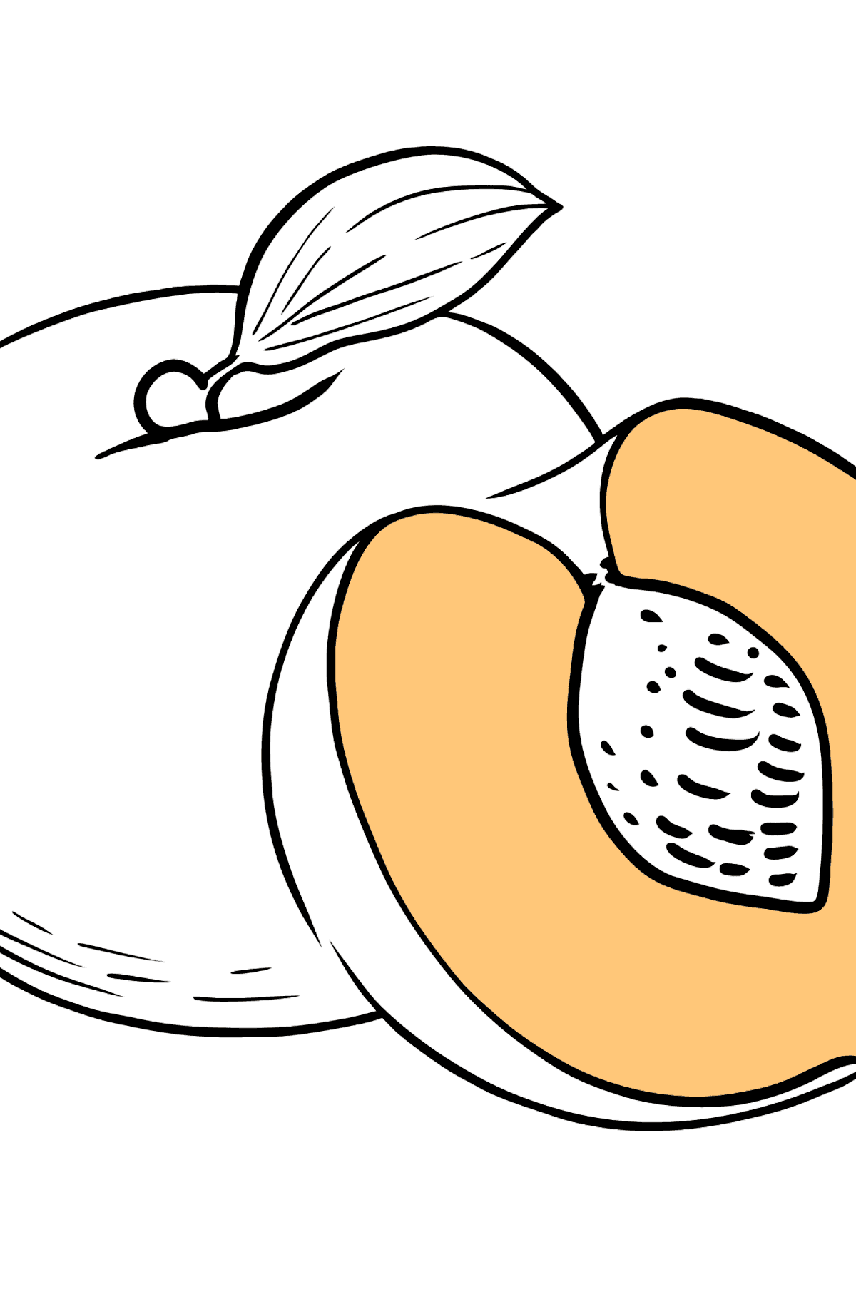 Peache coloring page - Coloring Pages for Kids