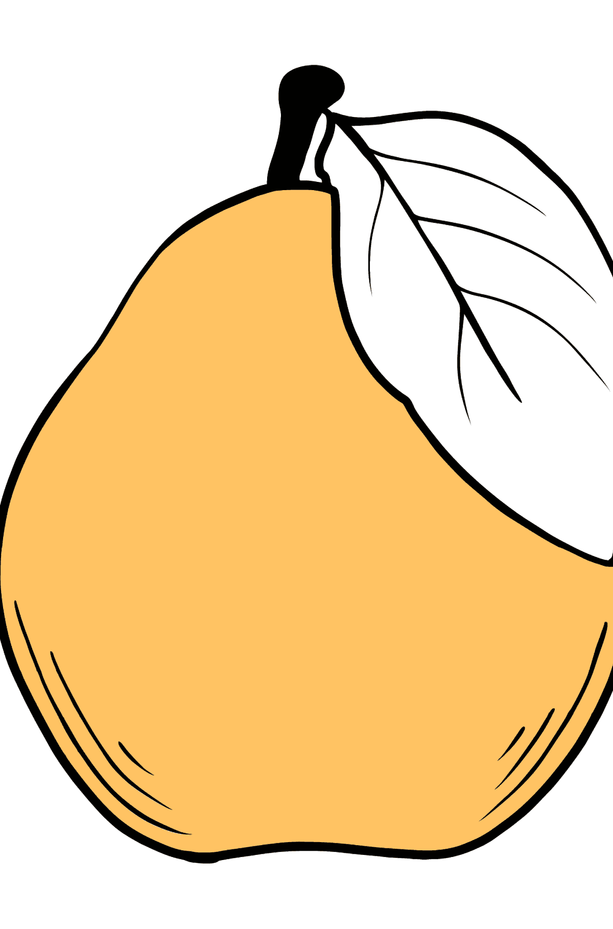 Coloring Pear - Coloring Pages for Kids