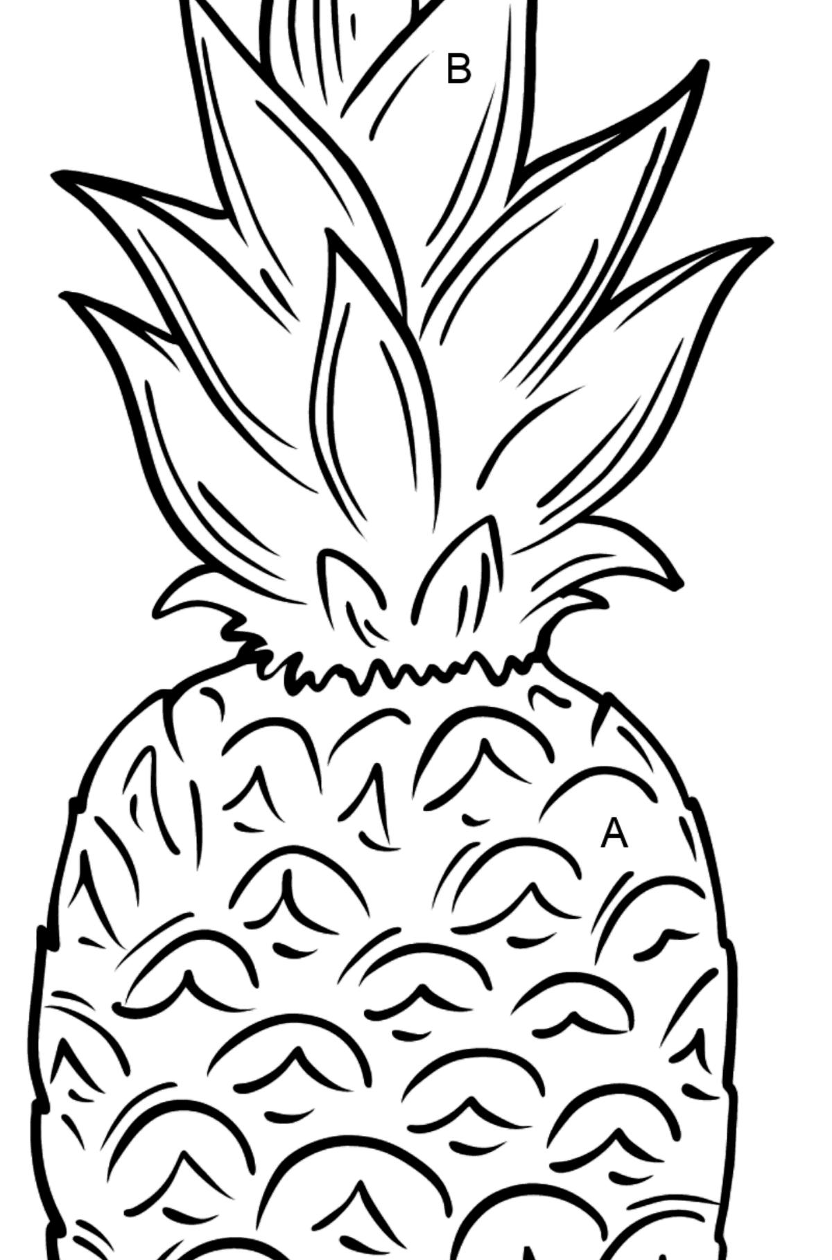 Ananas Ausmalbild ♥ Drucken und online!