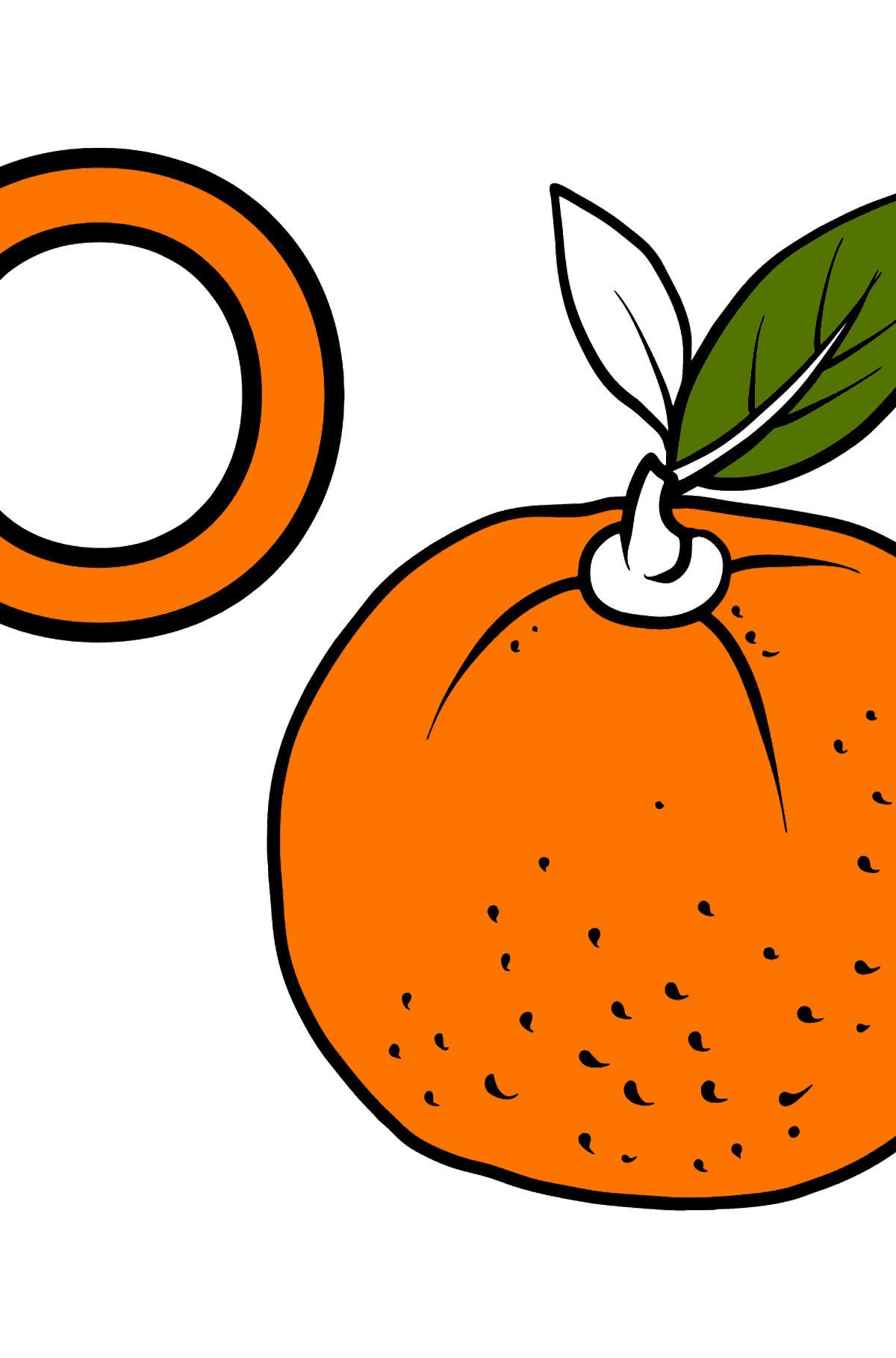 German Letter O coloring pages - ORANGE - Coloring Pages for Kids