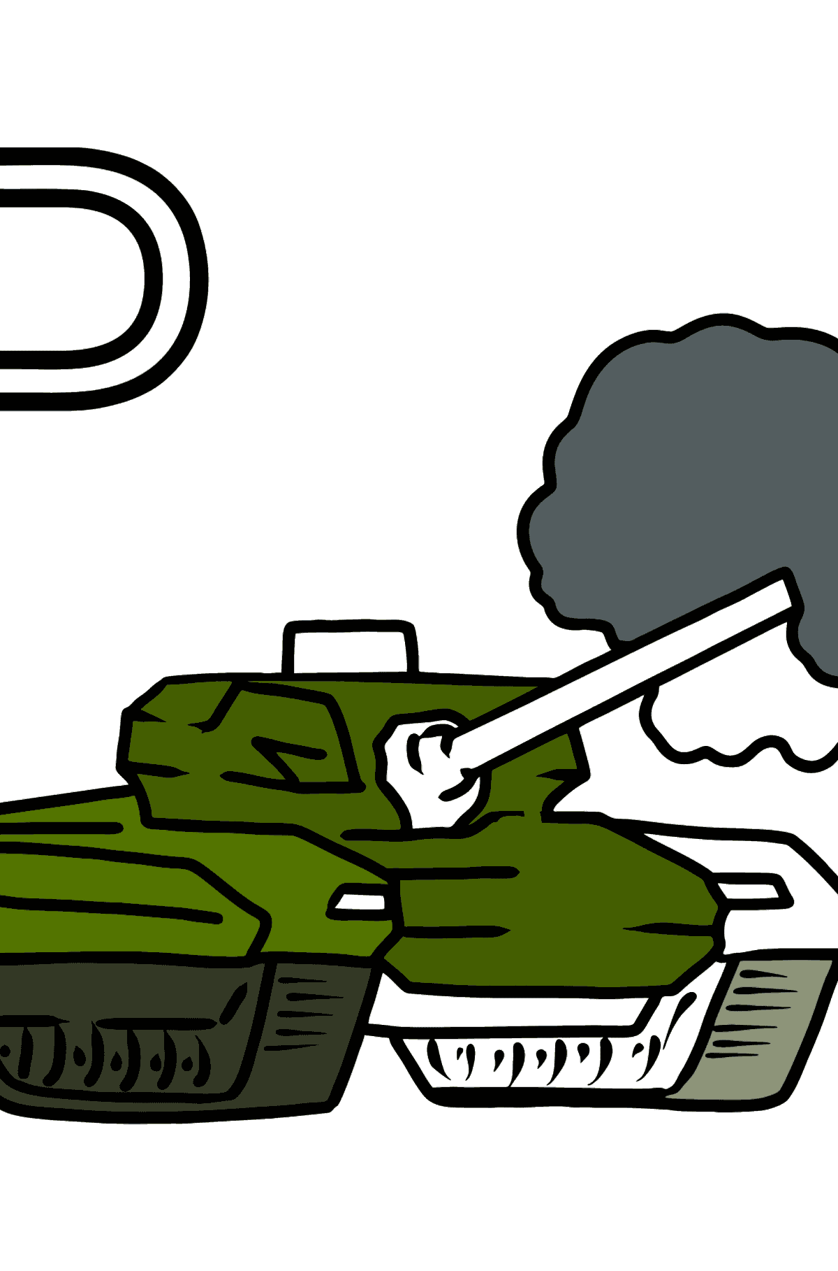 German Letter P coloring pages - PANZER - Coloring Pages for Kids