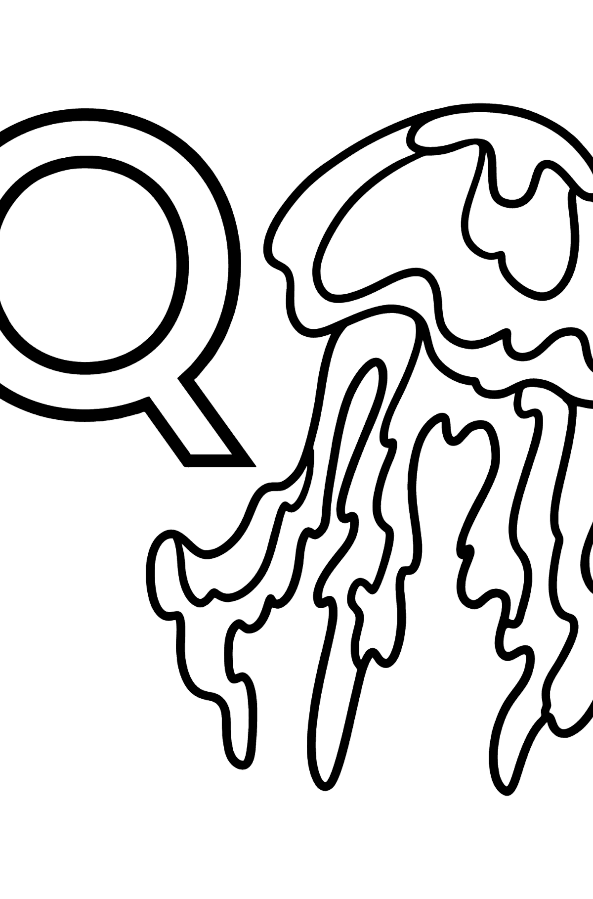 German Letter Q coloring pages - QUALLE - Coloring Pages for Kids