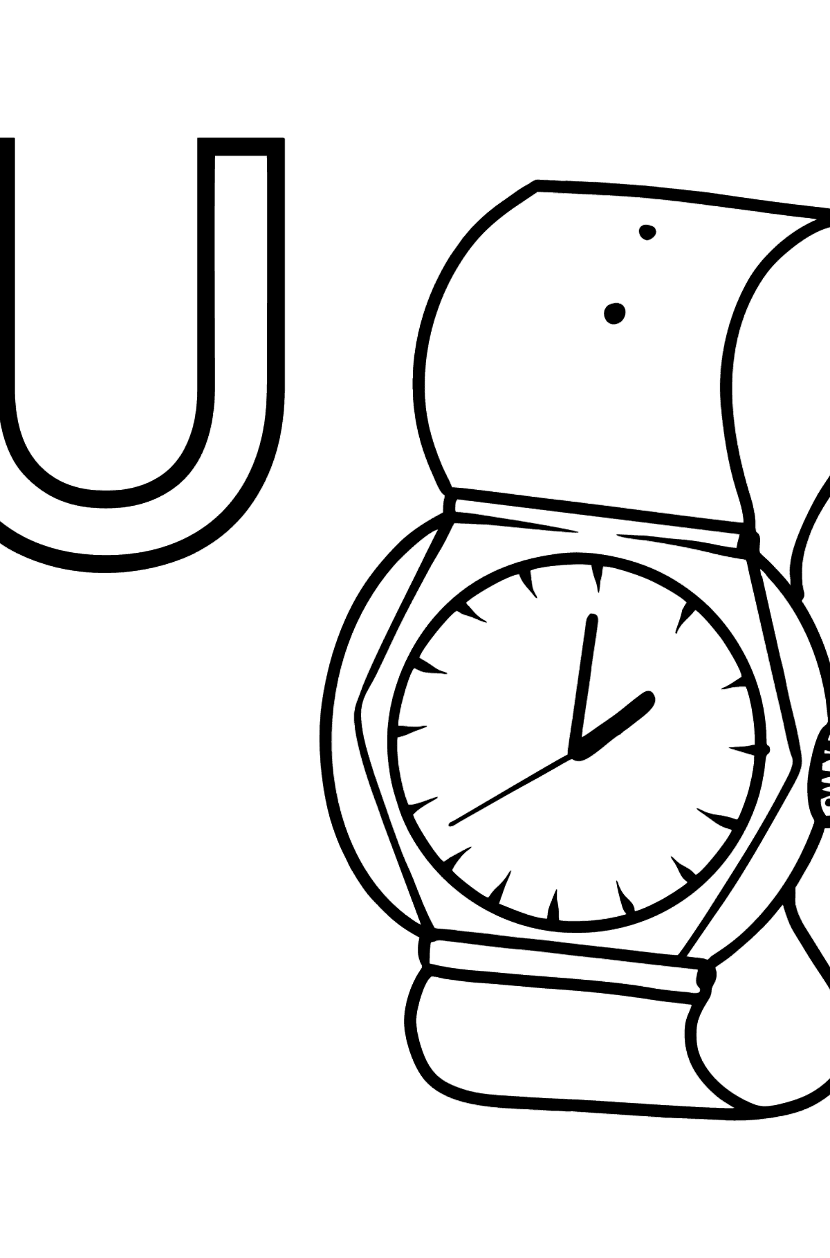 German Letter U coloring pages - UHR - Coloring Pages for Kids
