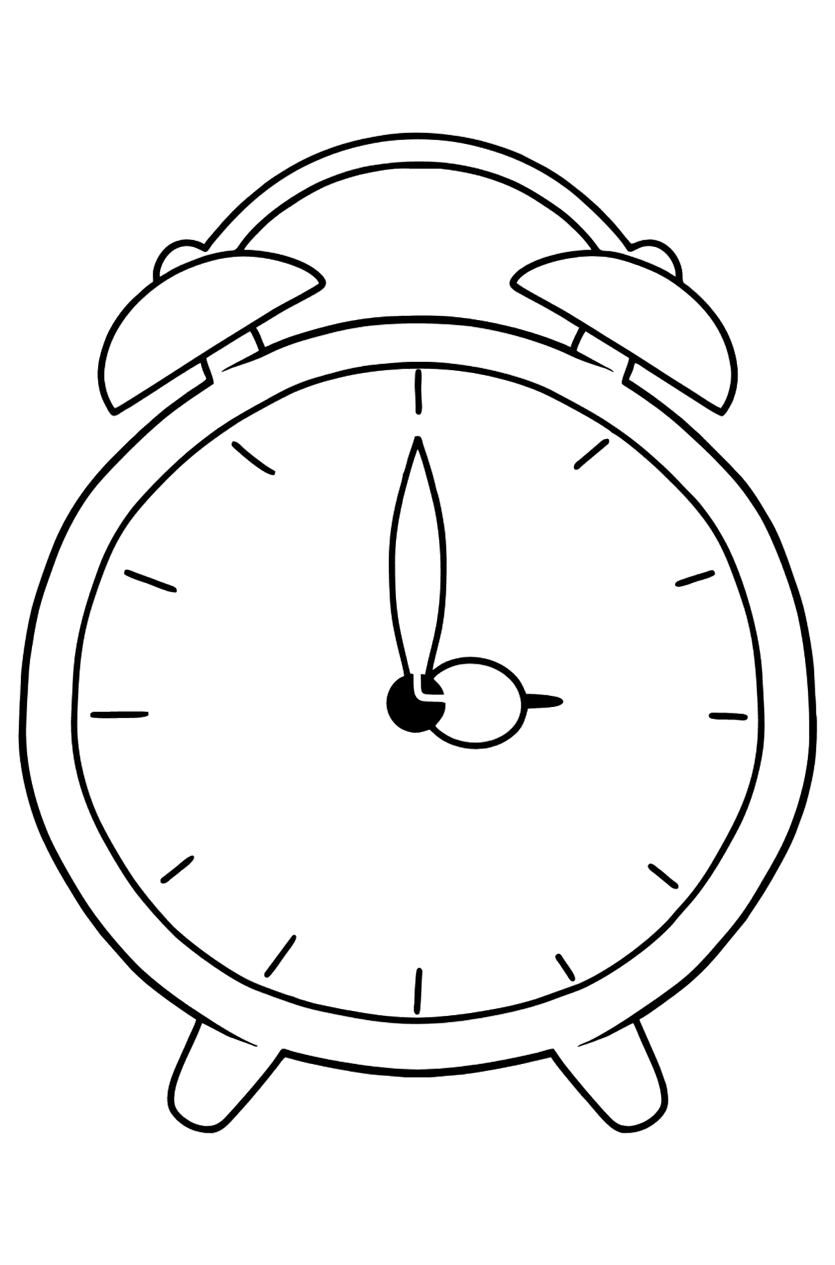 Alarm Clock coloring page - Coloring Pages for Kids