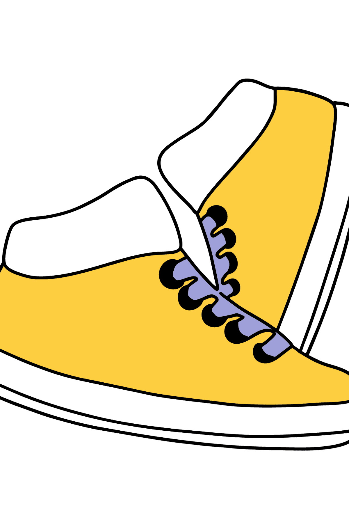 Beautiful Sneakers coloring page - Coloring Pages for Kids