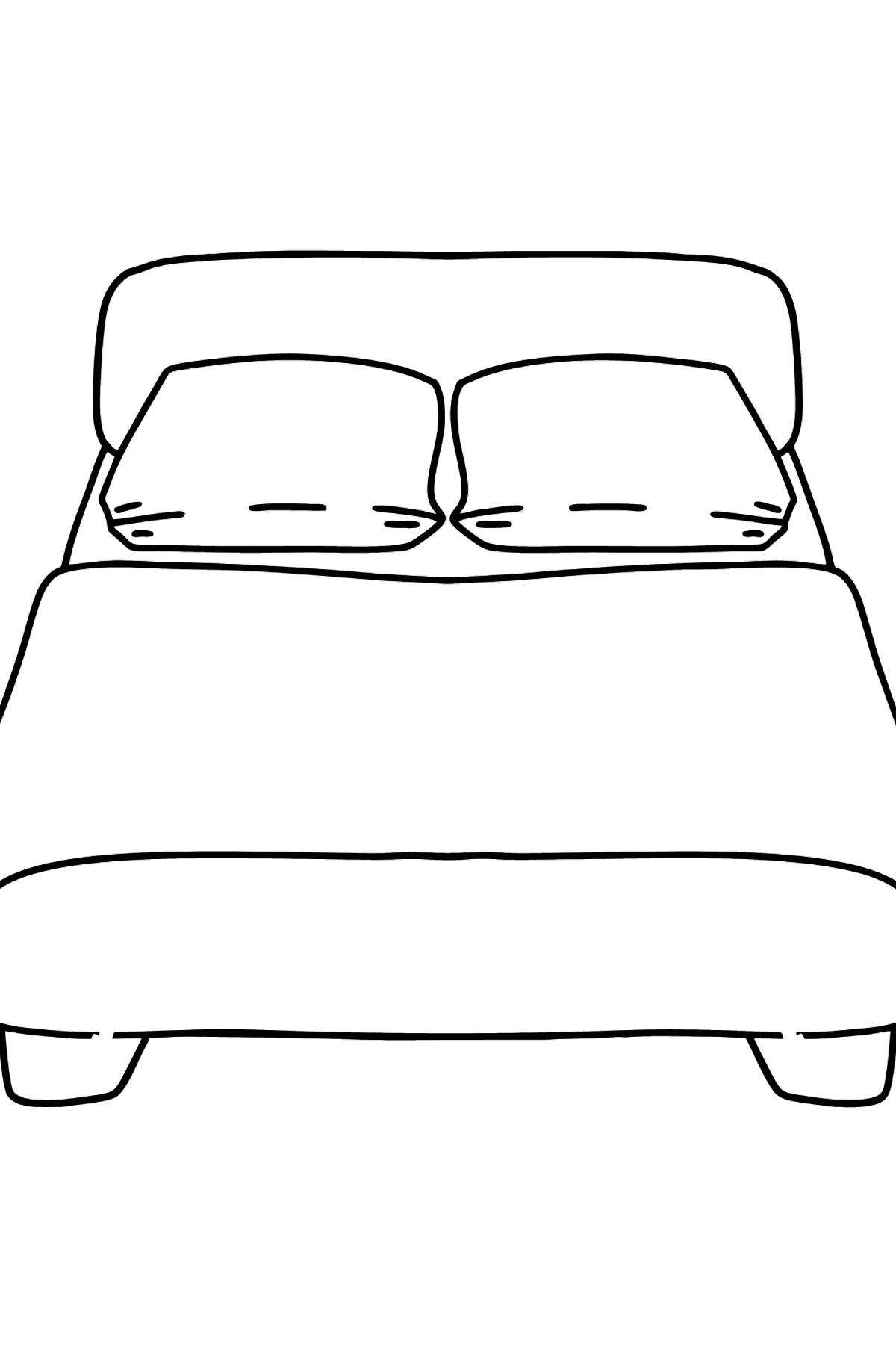Bed coloring page - Coloring Pages for Kids