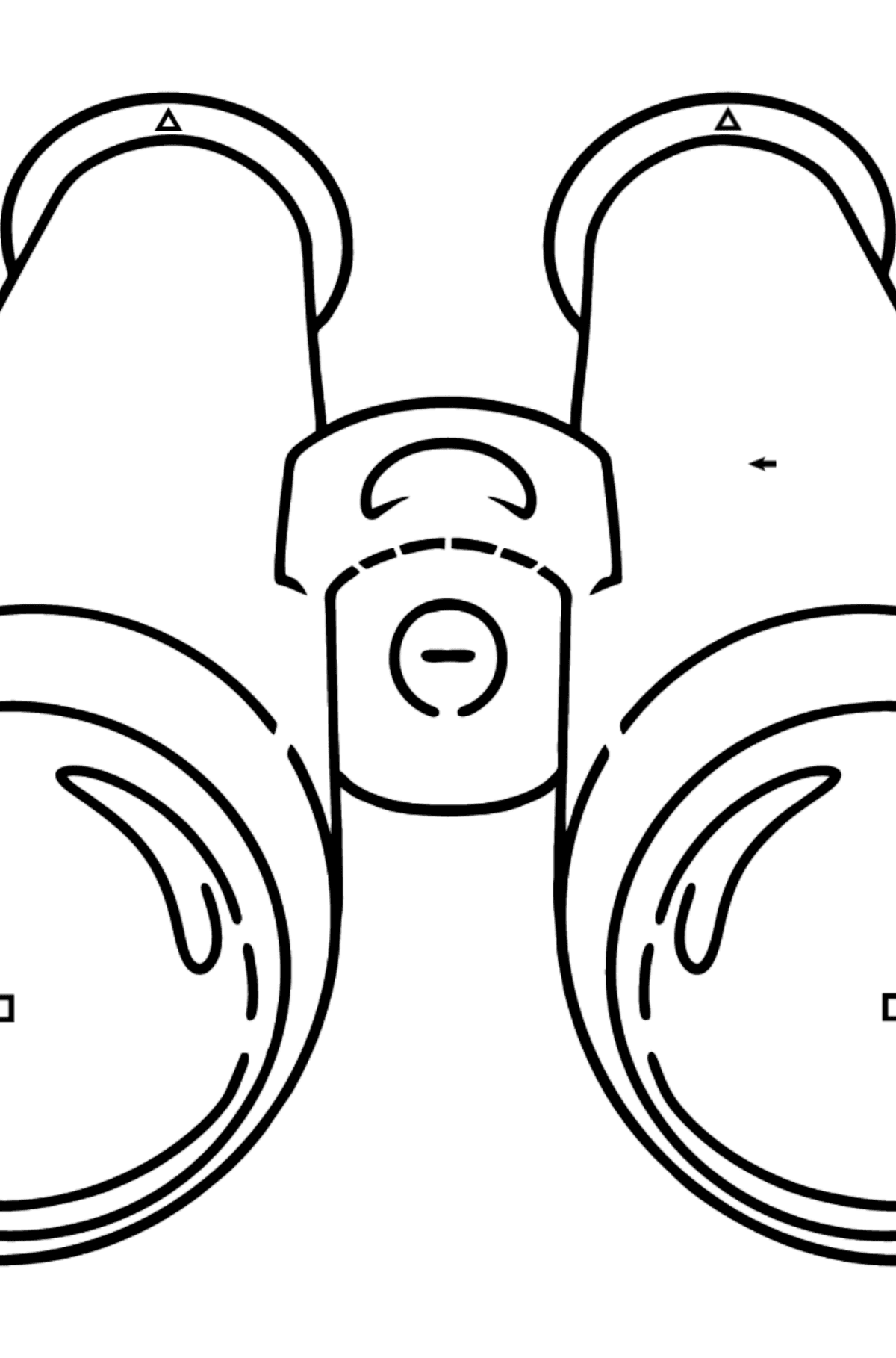 Binoculars coloring page - Coloring by Symbols for Kids