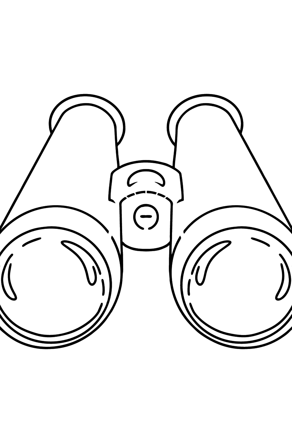 Binoculars coloring page - Coloring Pages for Kids