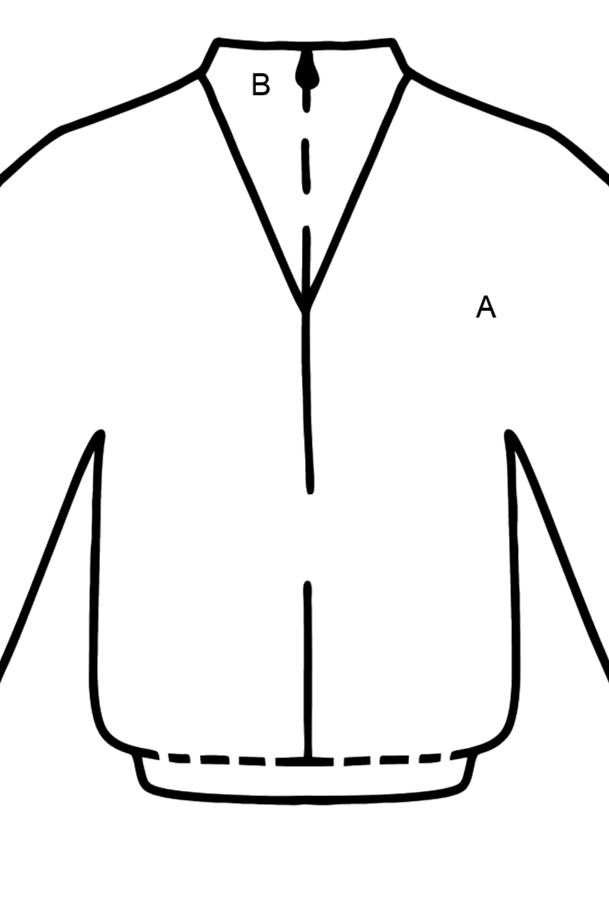 Blue Jacket coloring page - Coloring by Letters for Kids