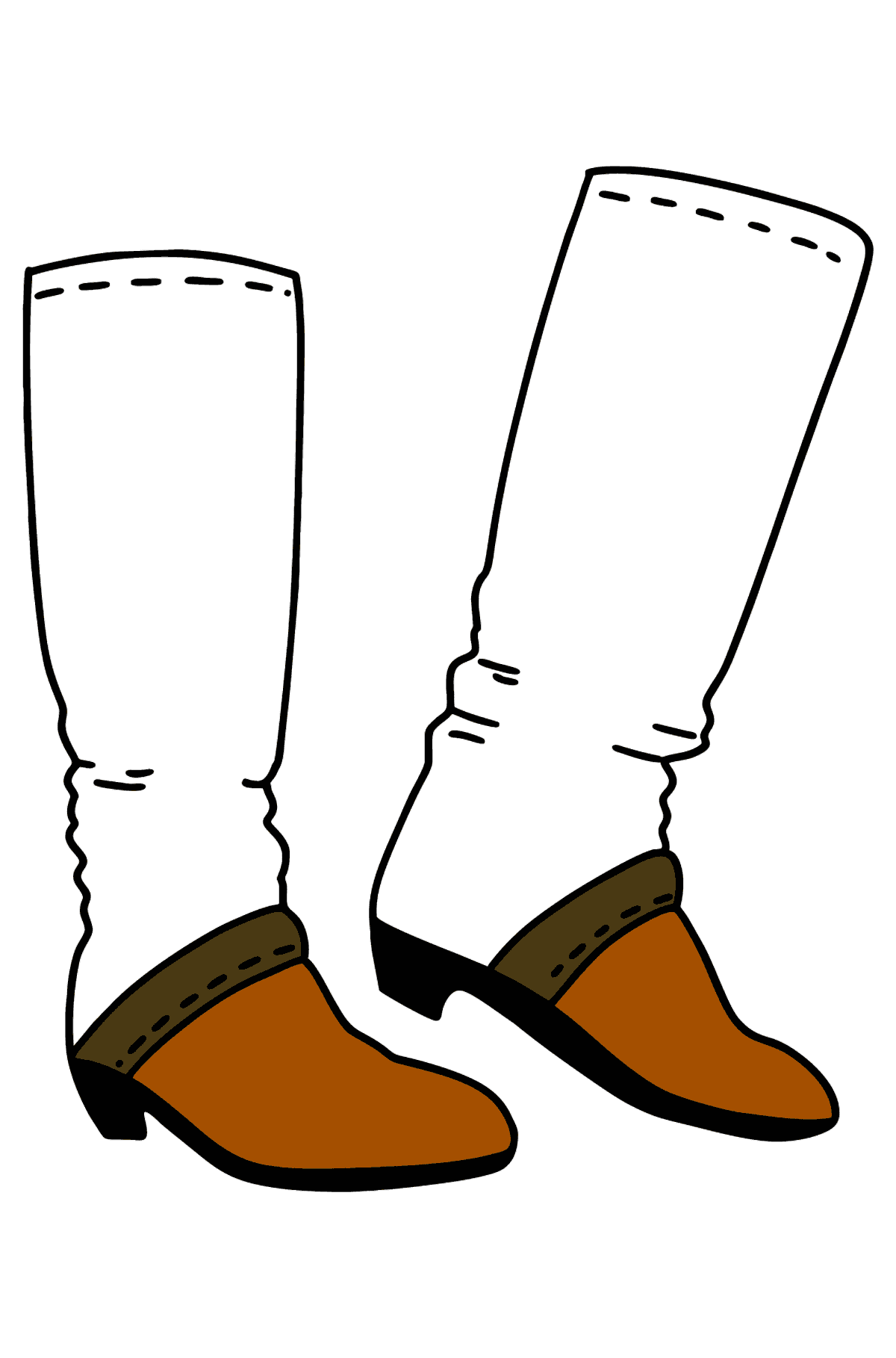 Boots coloring page - Coloring Pages for Kids