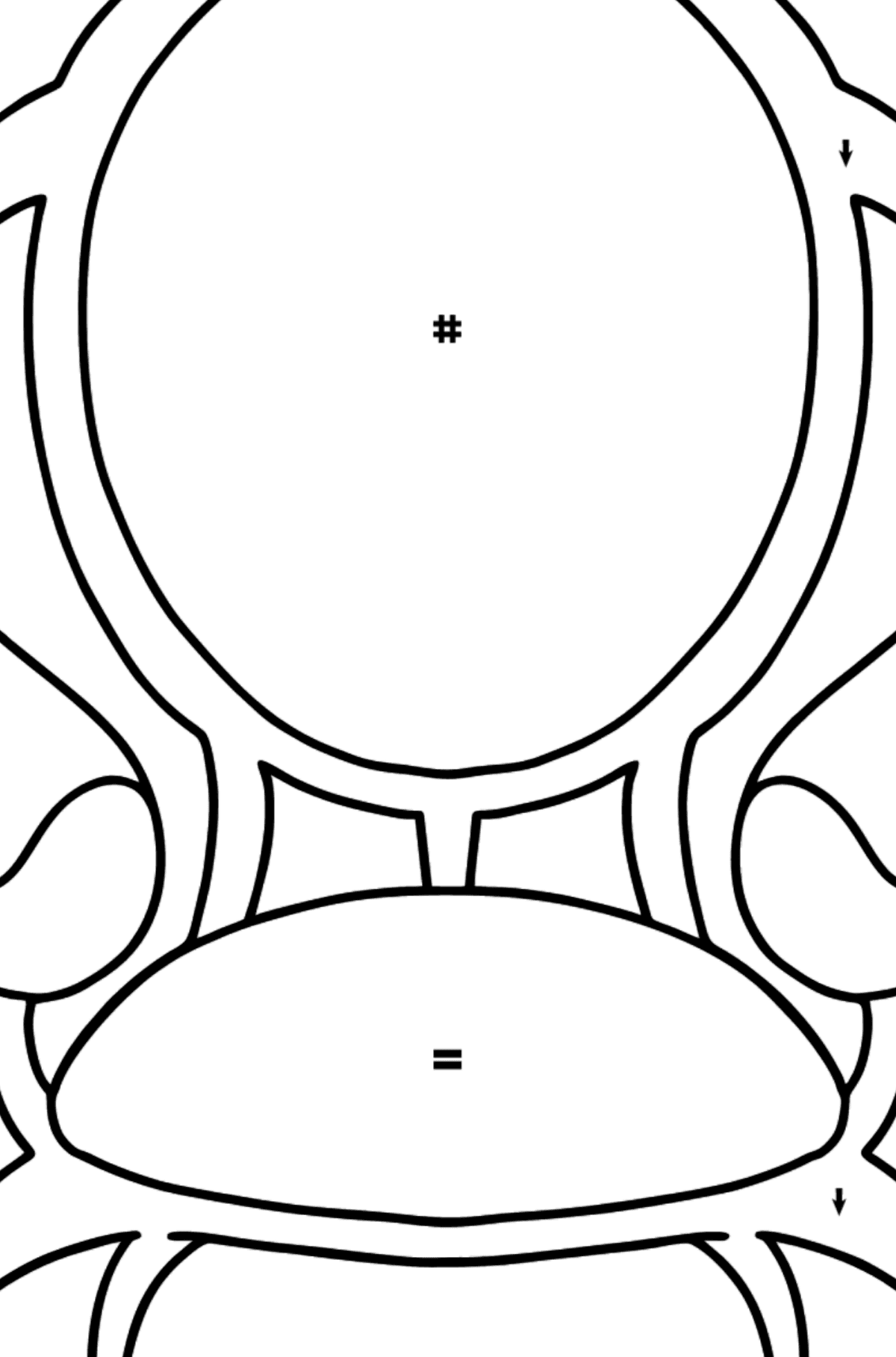 Soft Chair coloring page - Coloring by Symbols for Kids