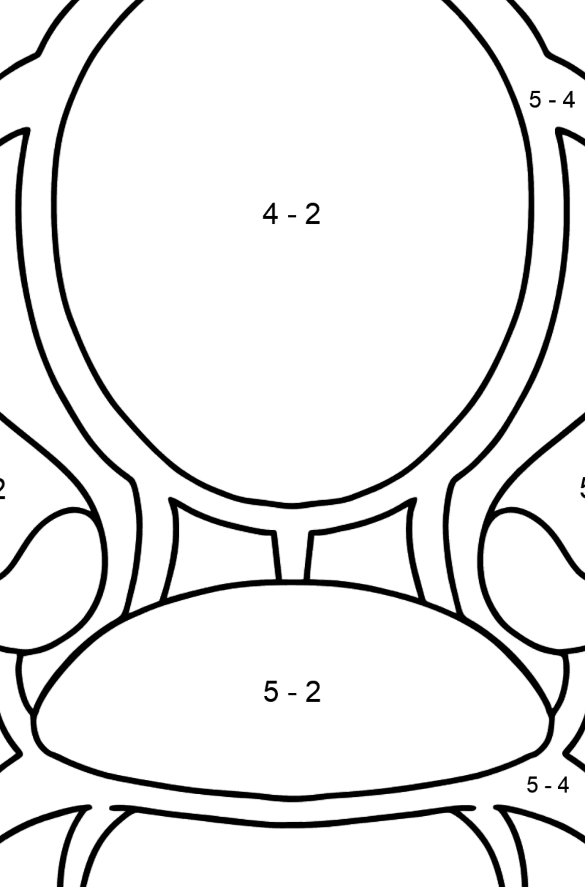 Soft Chair coloring page - Math Coloring - Subtraction for Kids