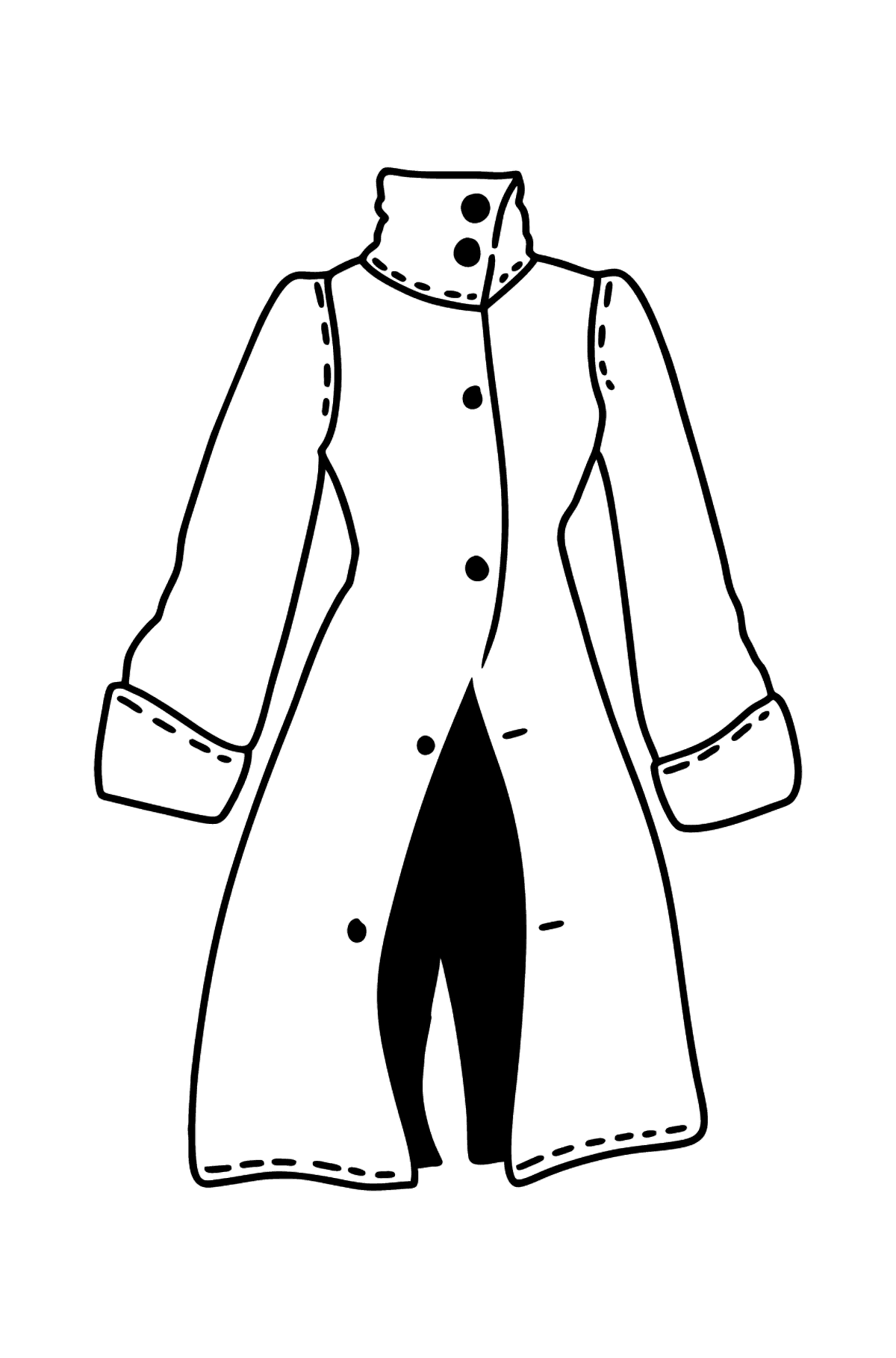 Coat coloring page - Coloring Pages for Kids