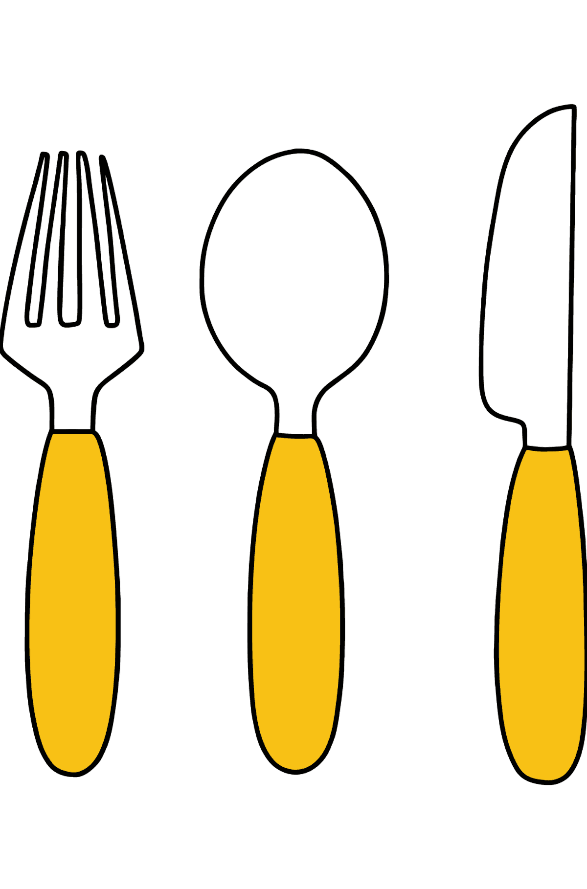 Cutlery coloring page - Coloring Pages for Kids