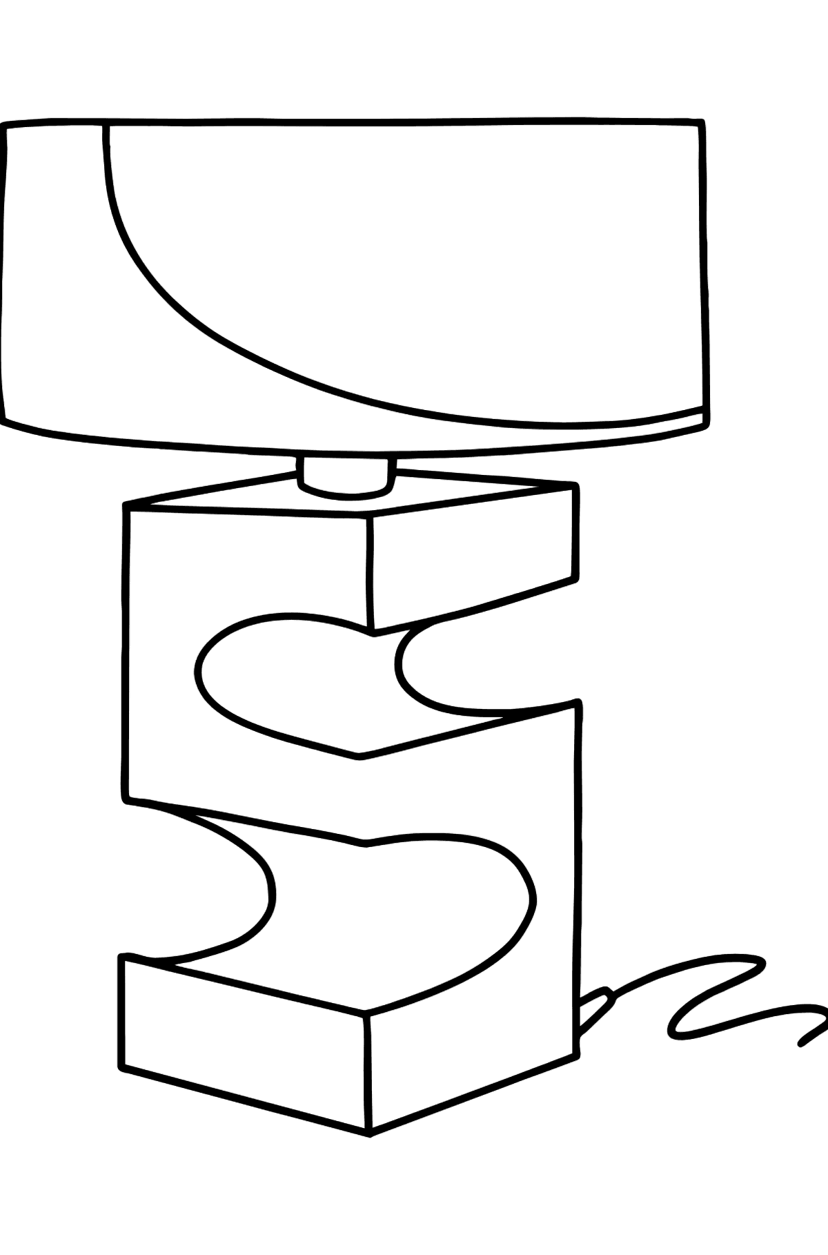 Designer Lamp coloring page - Coloring Pages for Kids