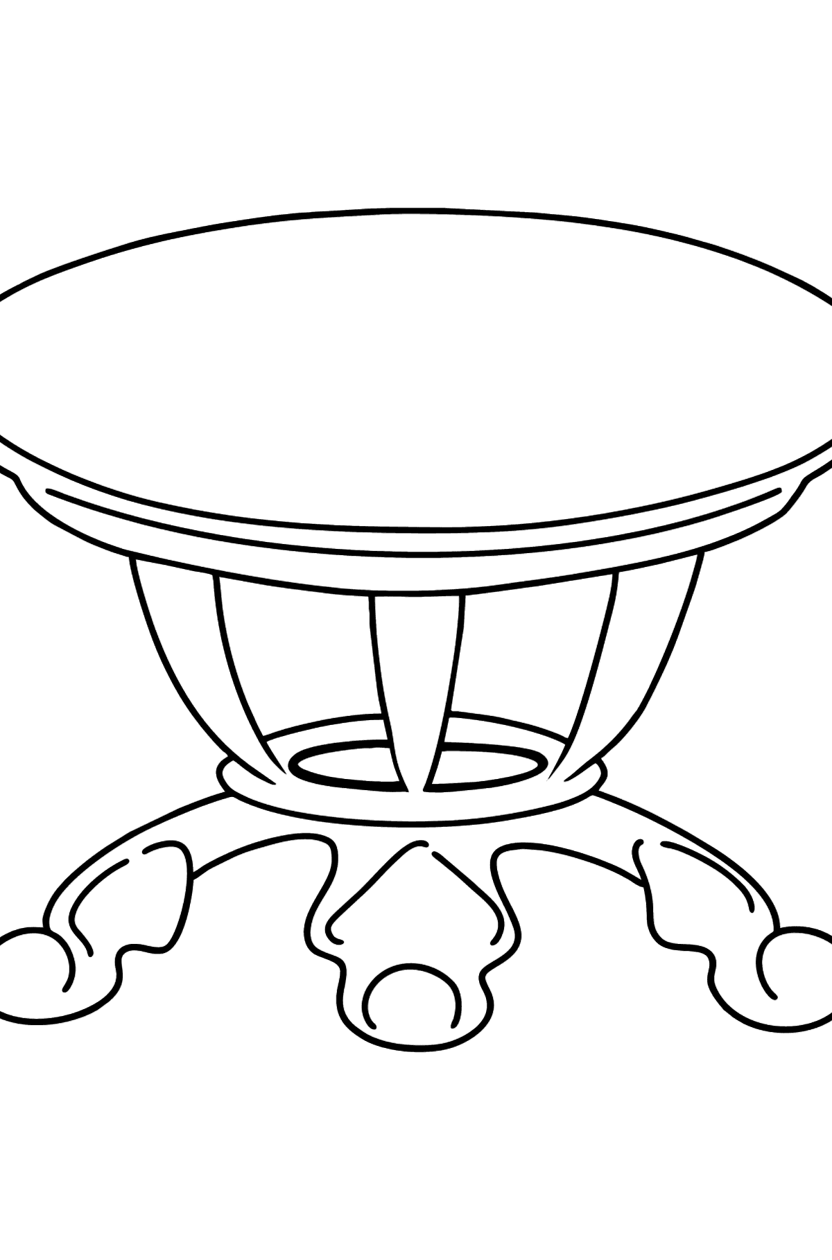 Dining Table coloring page - Coloring Pages for Kids