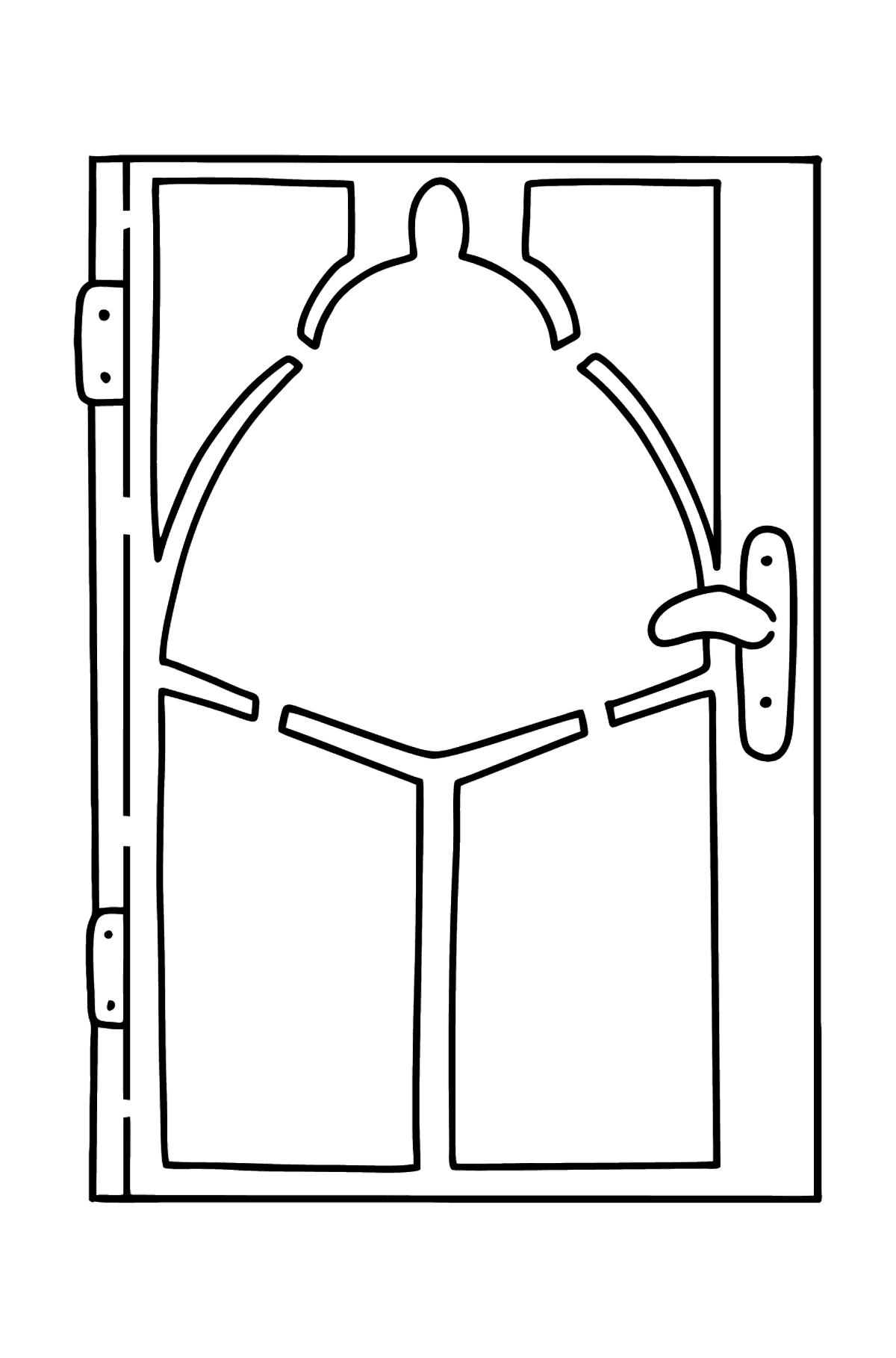 Door coloring page - Coloring Pages for Kids