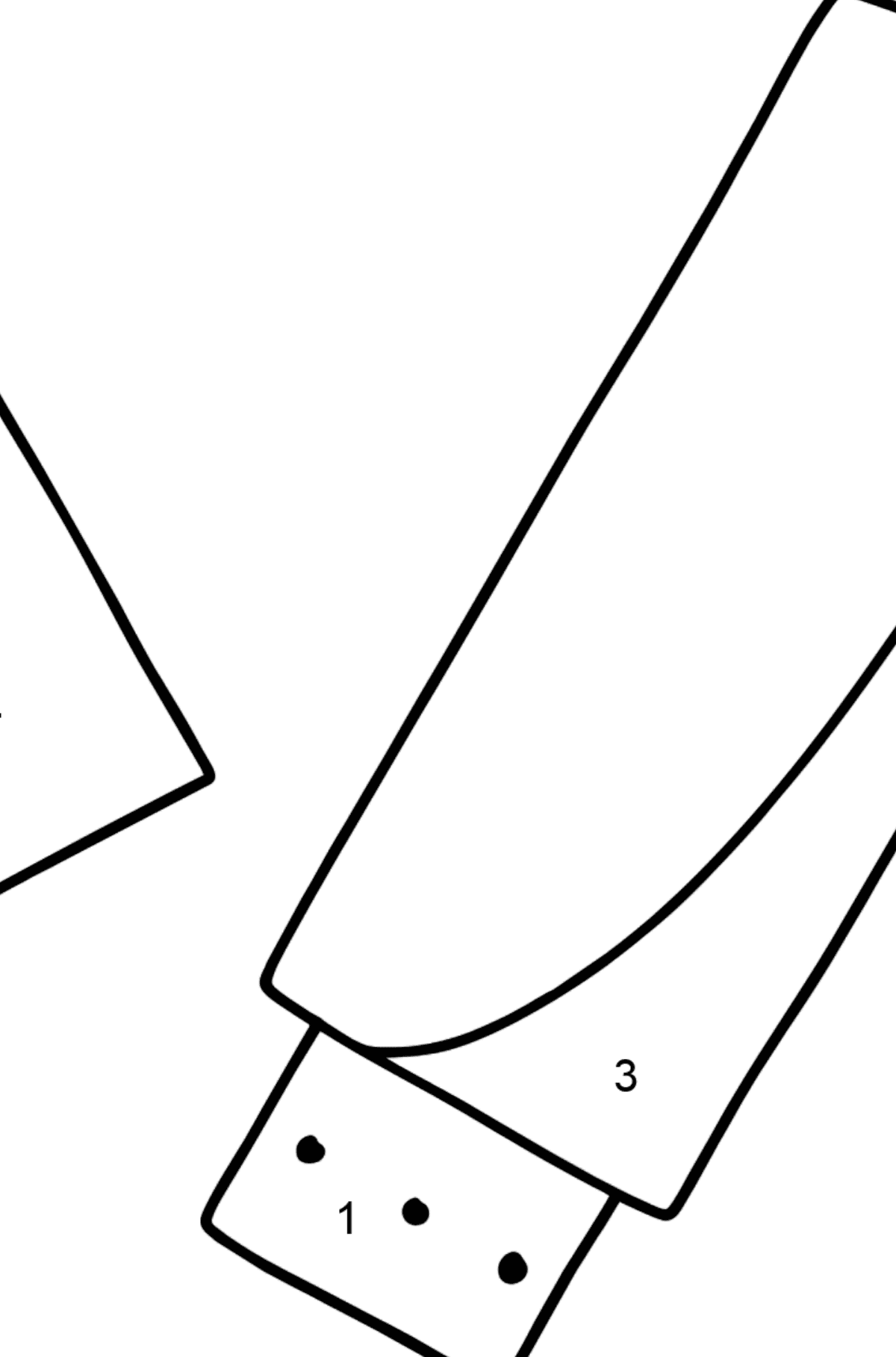 Flash Drive coloring page - Coloring by Numbers for Kids