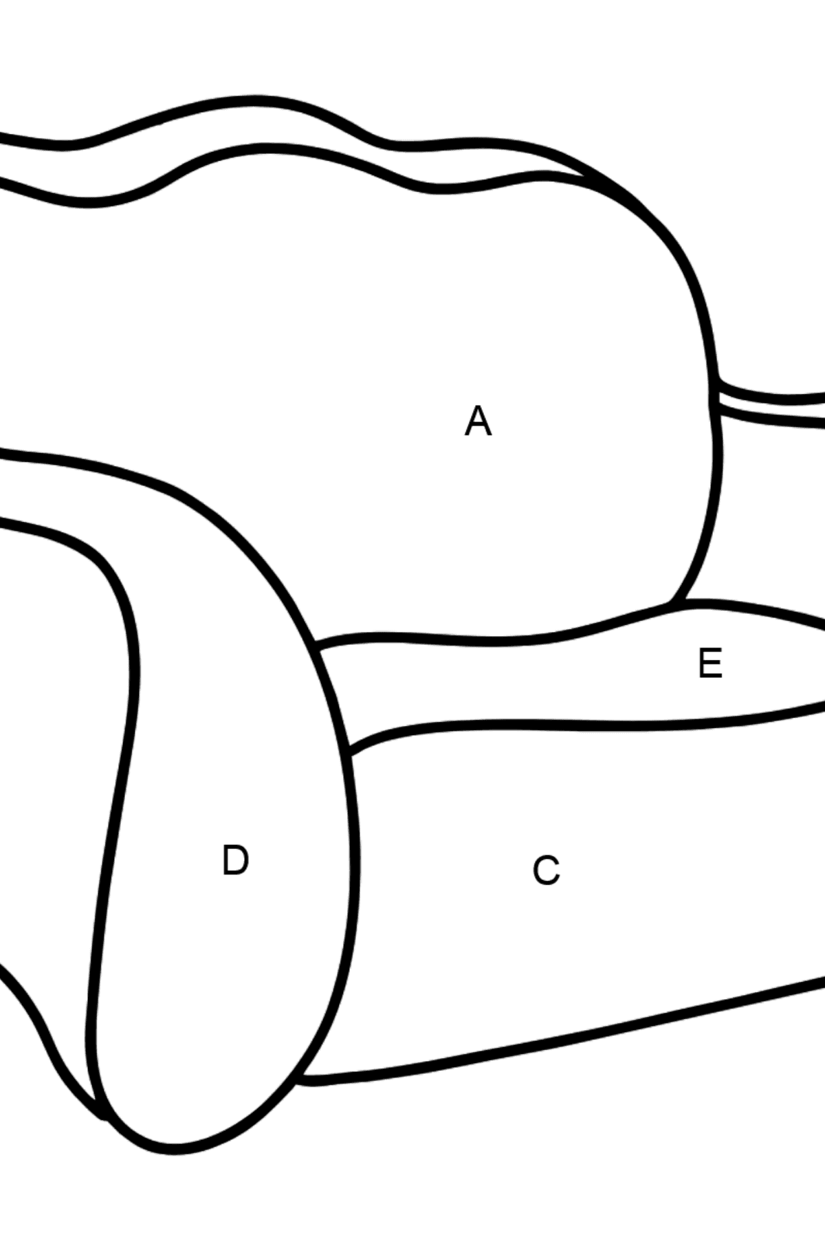 Pull Out Sofa coloring page - Coloring by Letters for Kids