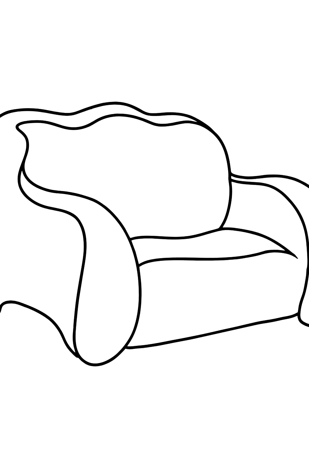 Pull Out Sofa coloring page - Coloring Pages for Kids