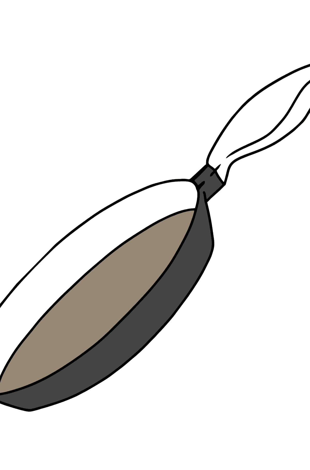 Frying Pan coloring page - Coloring Pages for Kids