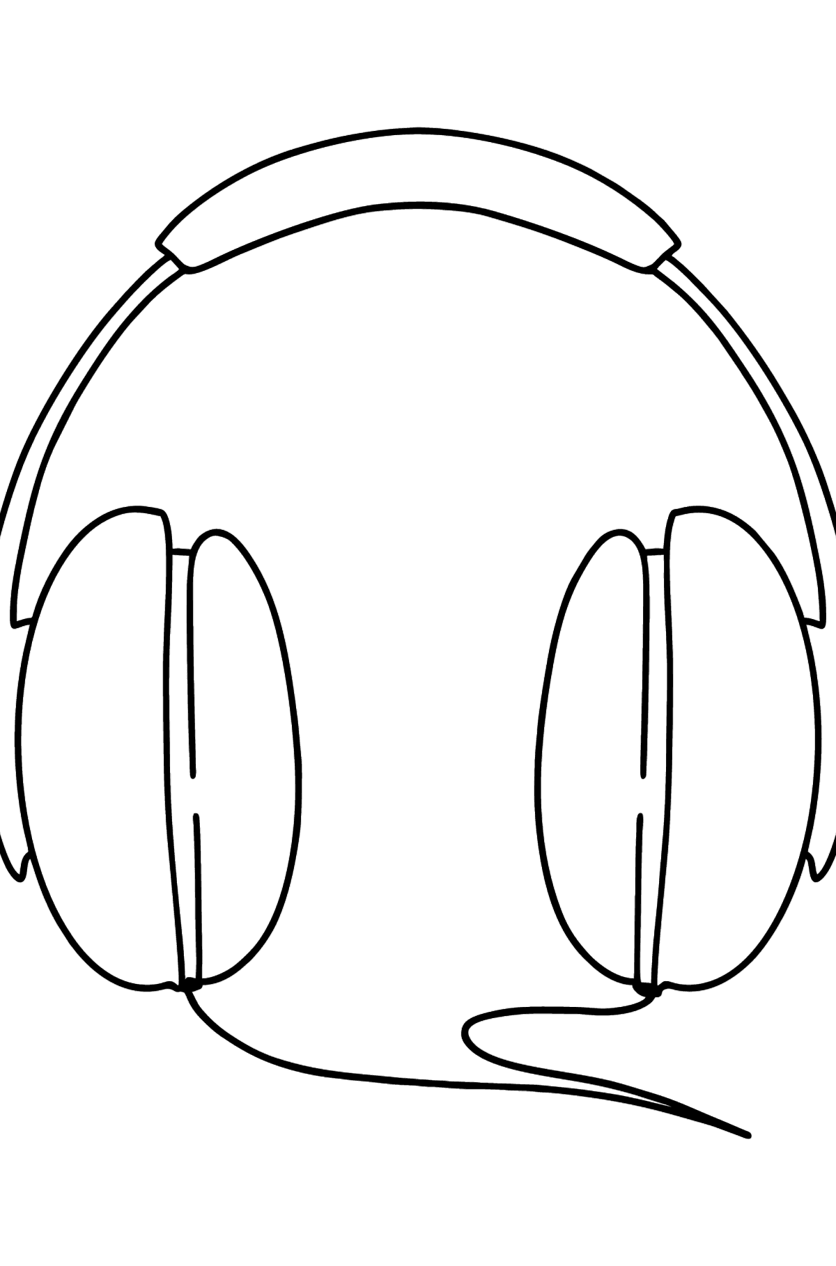 Headphones coloring page - Coloring Pages for Kids