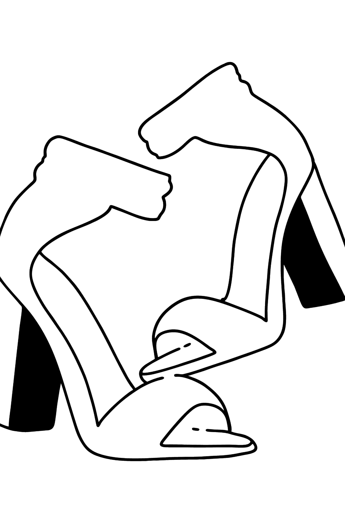 High-heeled Shoes Coloring Page - Coloring Pages for Kids