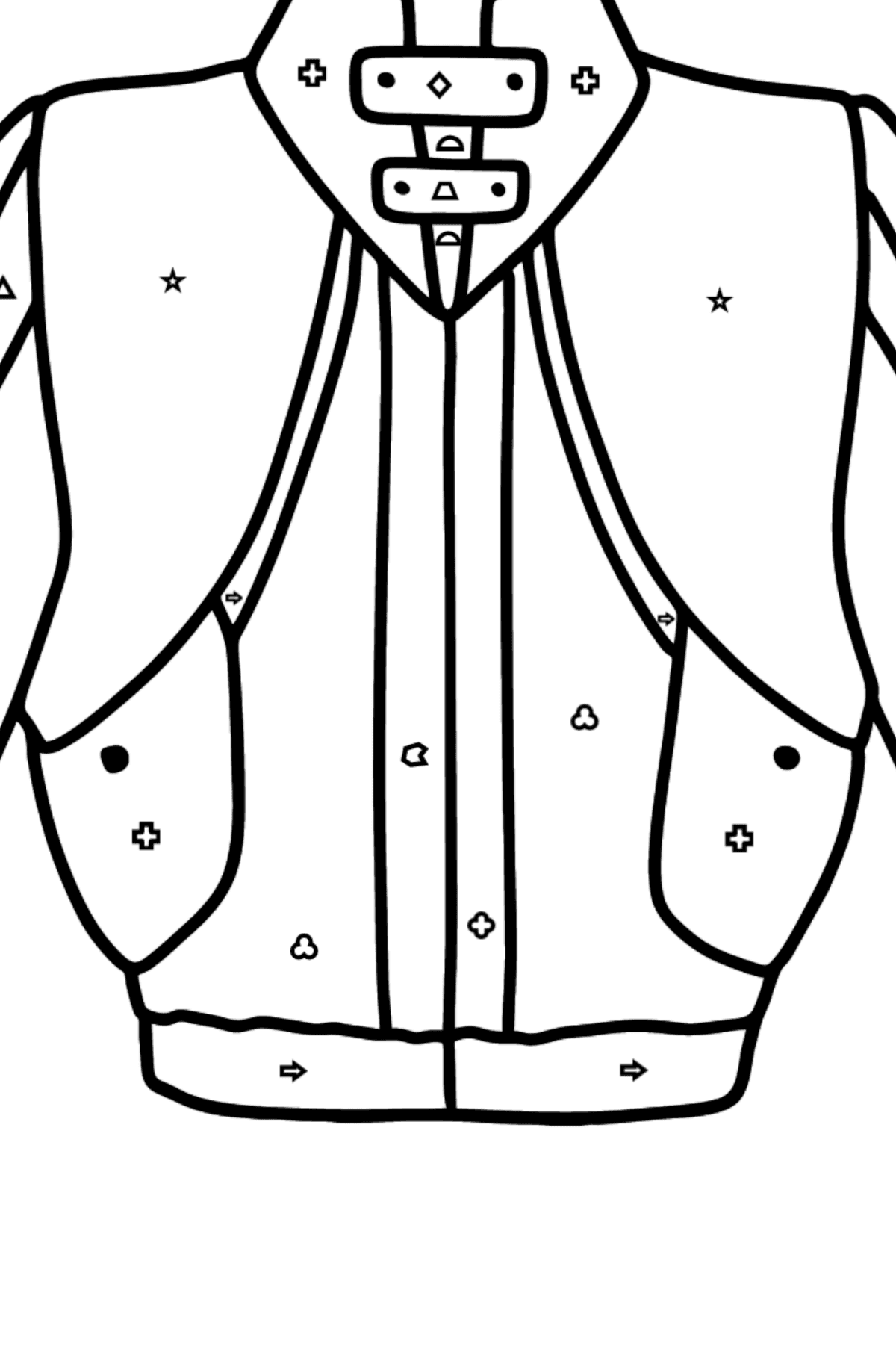 Jacket coloring page - Coloring by Geometric Shapes for Kids