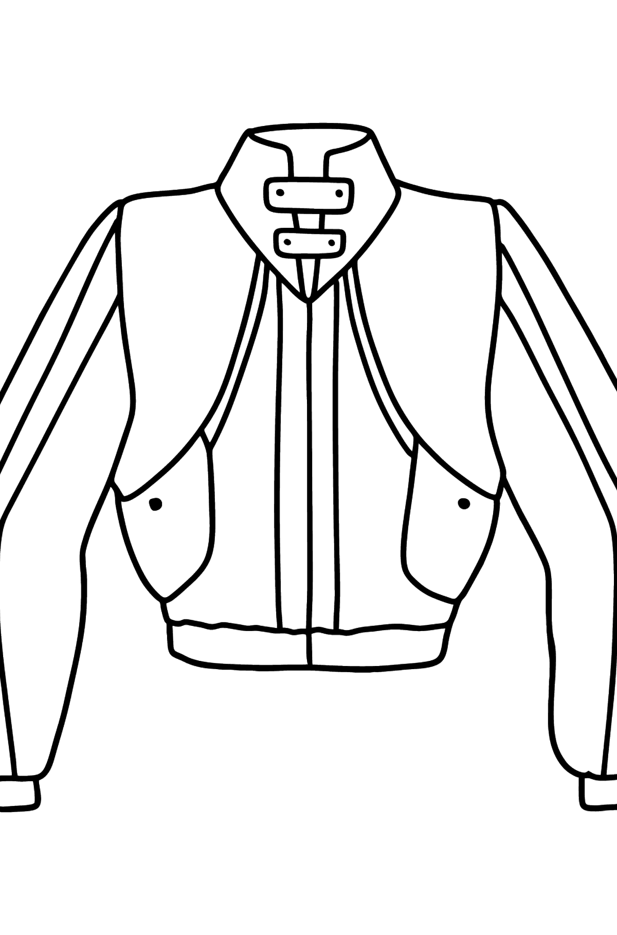Jacket coloring page - Coloring Pages for Kids