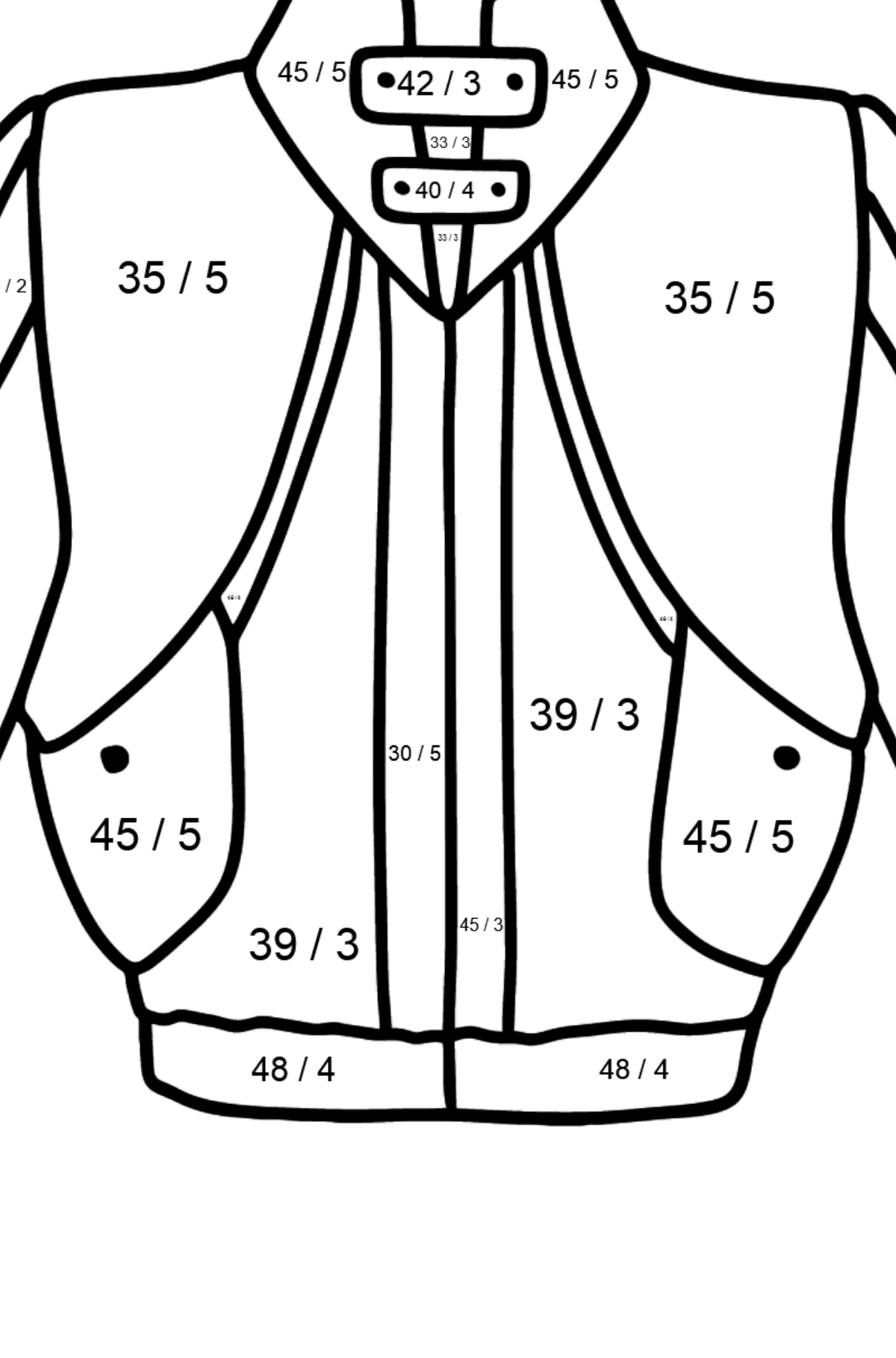 Jacket coloring page - Math Coloring - Division for Kids