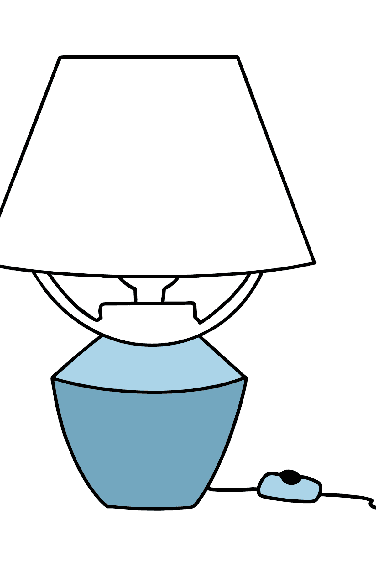 Bedside Lamp coloring page - Coloring Pages for Kids