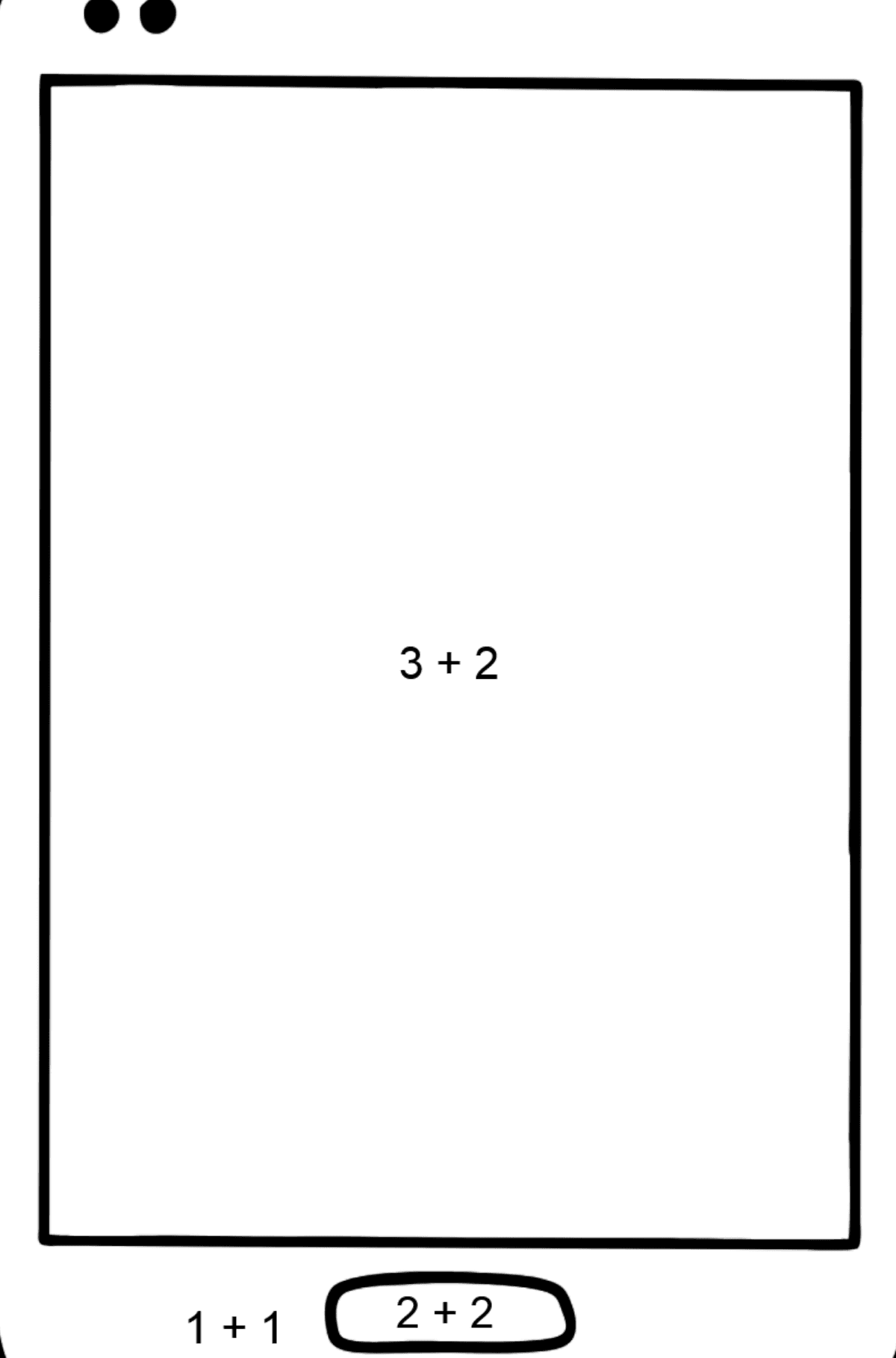 Mobile Phone coloring page - Math Coloring - Addition for Kids