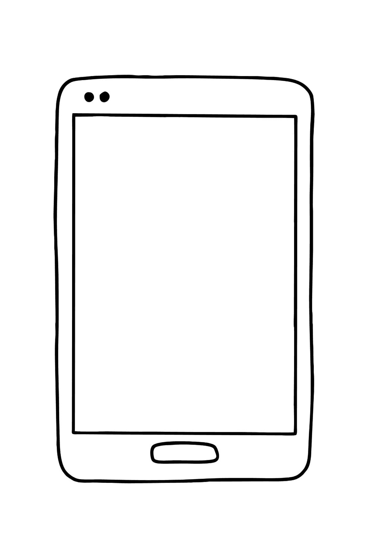 Coloriage - Téléphone portable - Coloriages pour les Enfants
