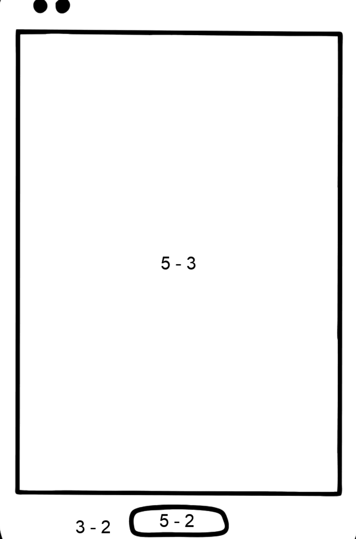 Mobile Phone coloring page - Math Coloring - Subtraction for Kids