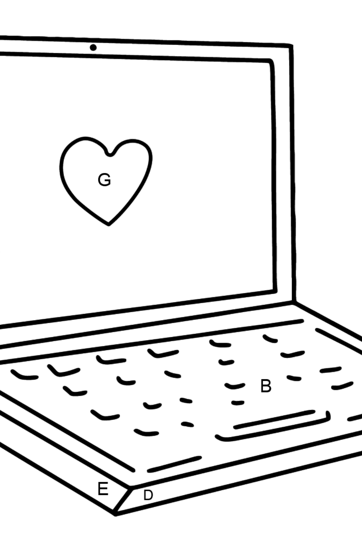 Notebook coloring page - Coloring by Letters for Kids
