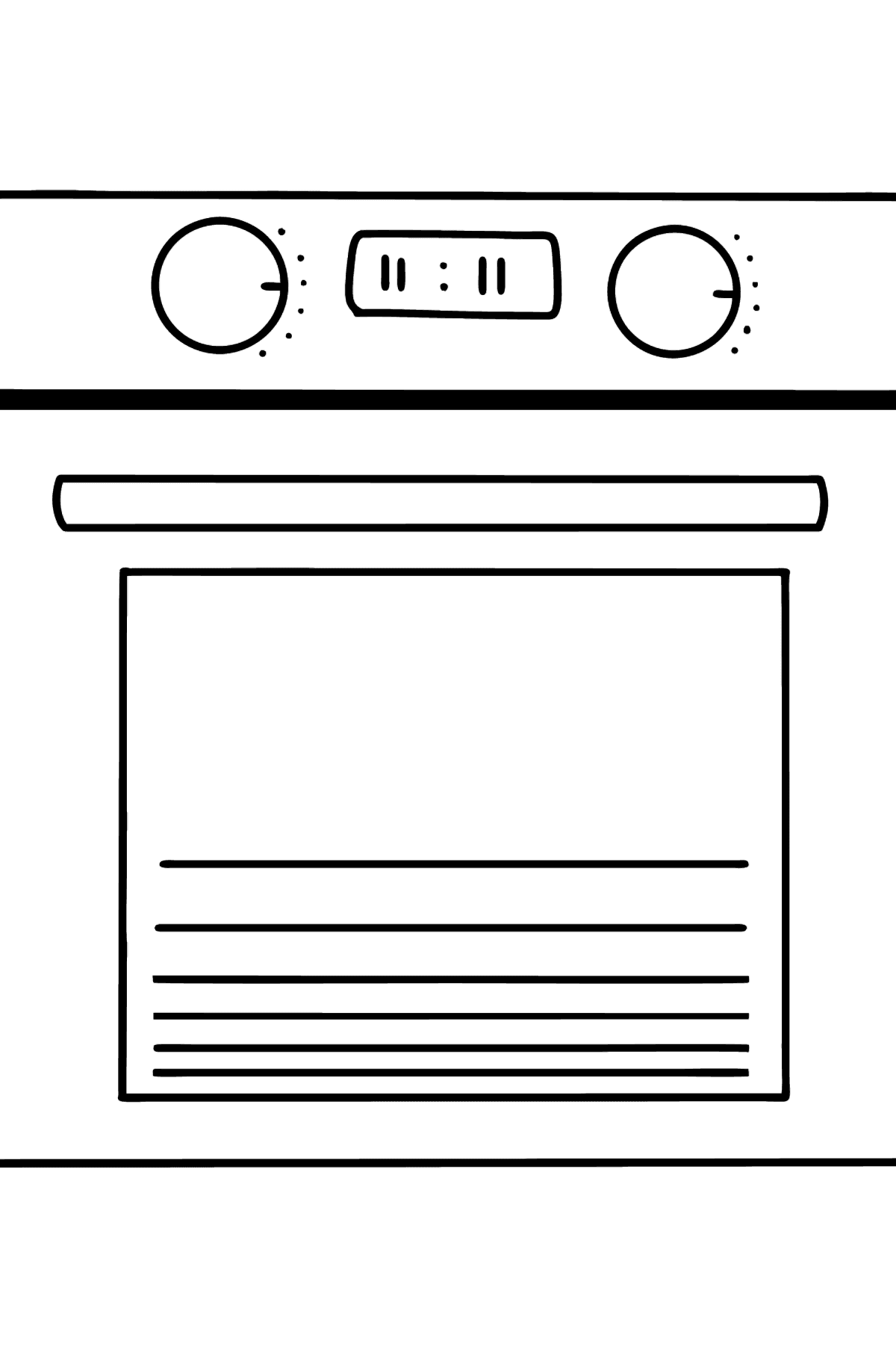 Oven coloring page - Coloring Pages for Kids