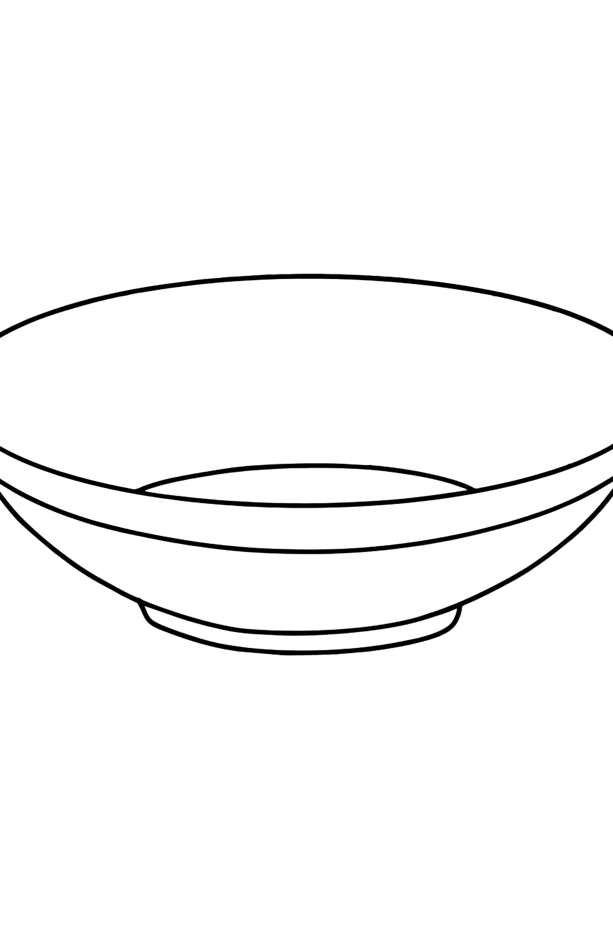 Plate coloring page - Coloring Pages for Kids