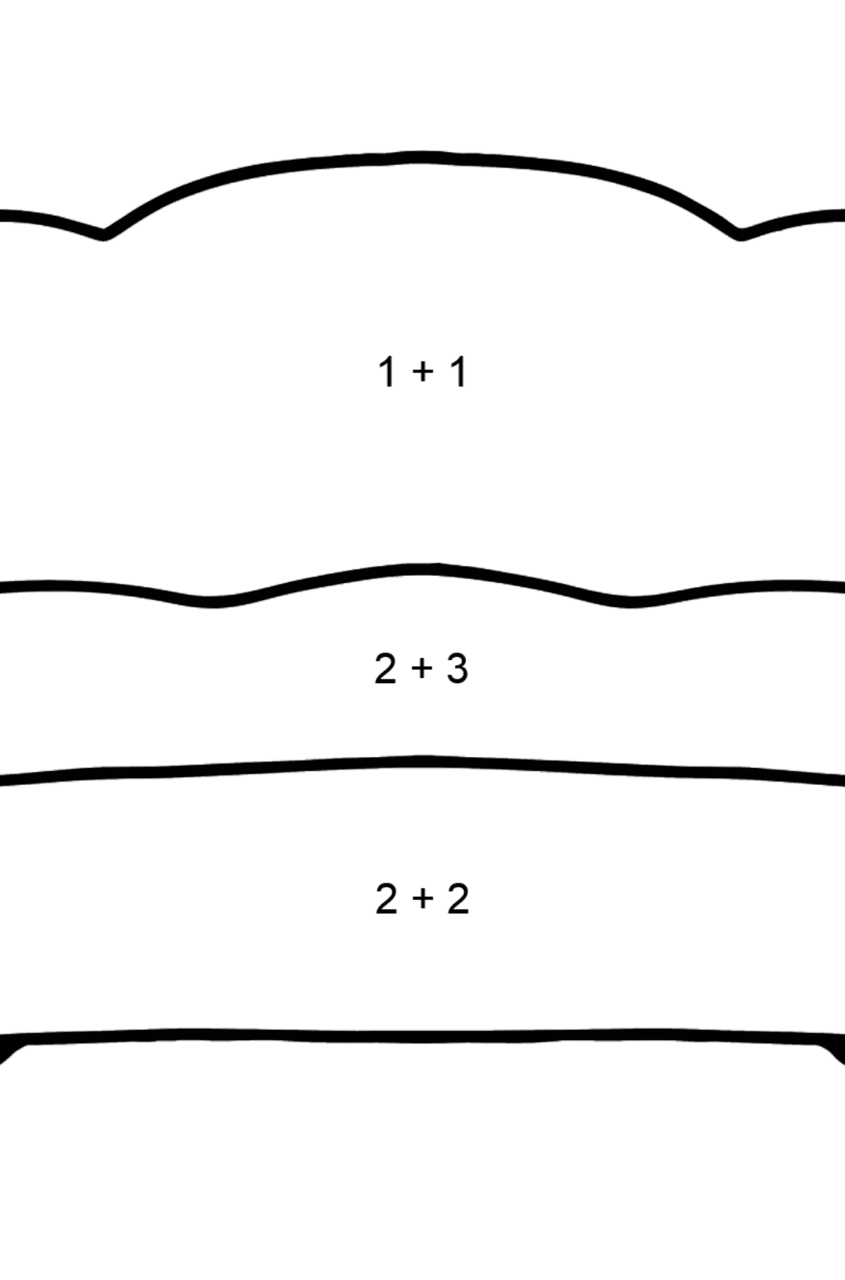 Red Sofa coloring page - Math Coloring - Addition for Kids