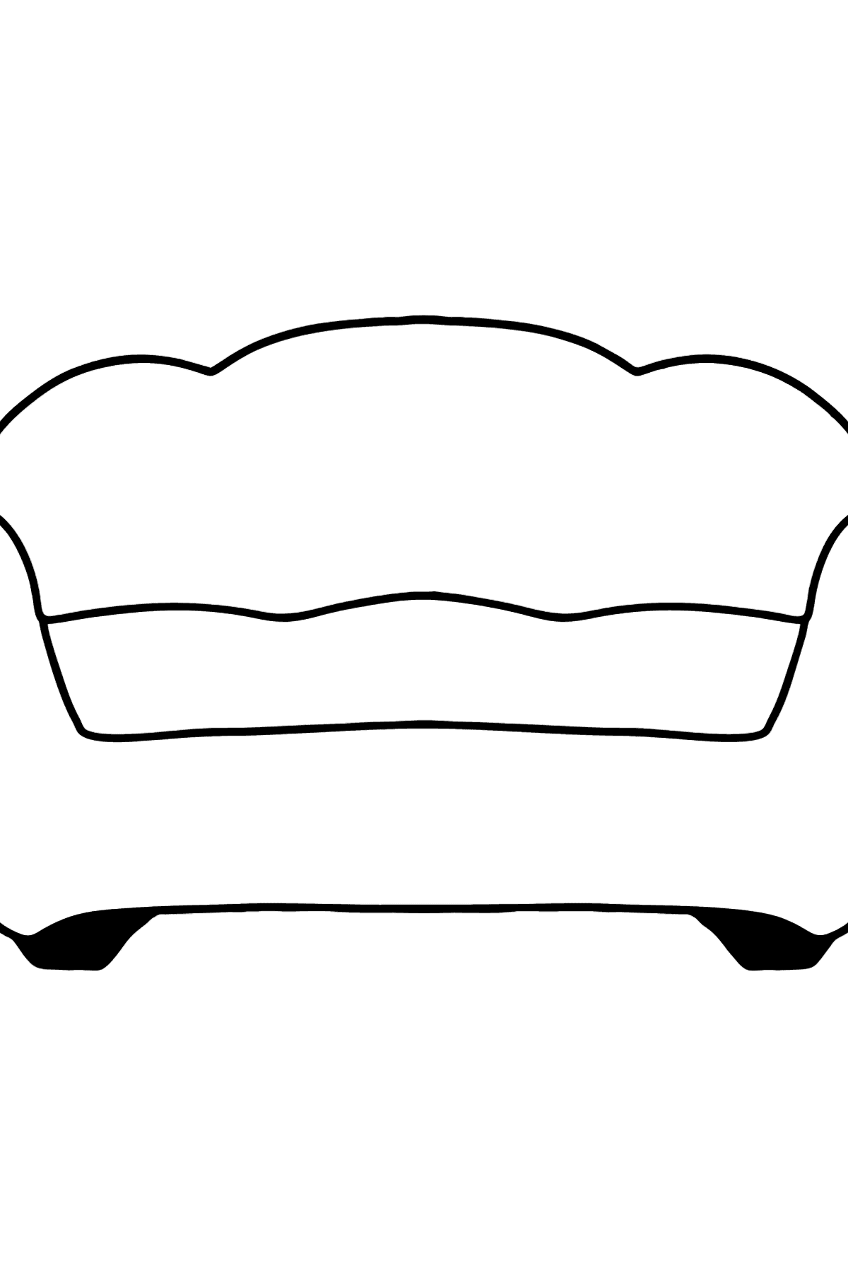 Red Sofa coloring page - Coloring Pages for Kids