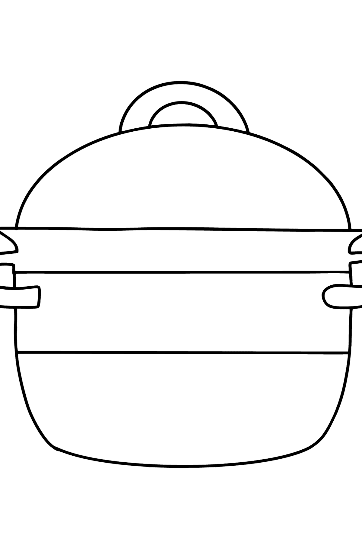 Saucepan coloring page - Coloring Pages for Kids