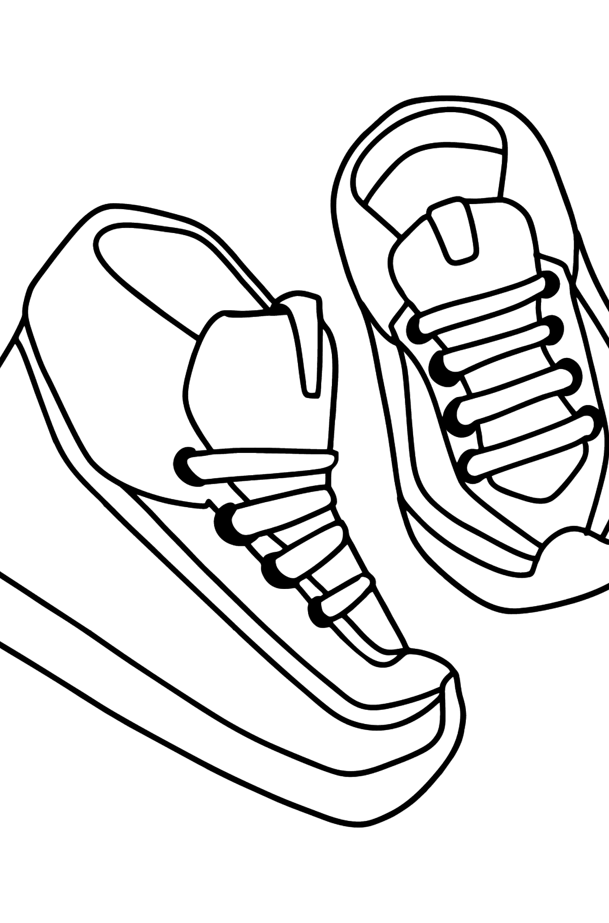 Sneakers coloring page - Coloring Pages for Kids