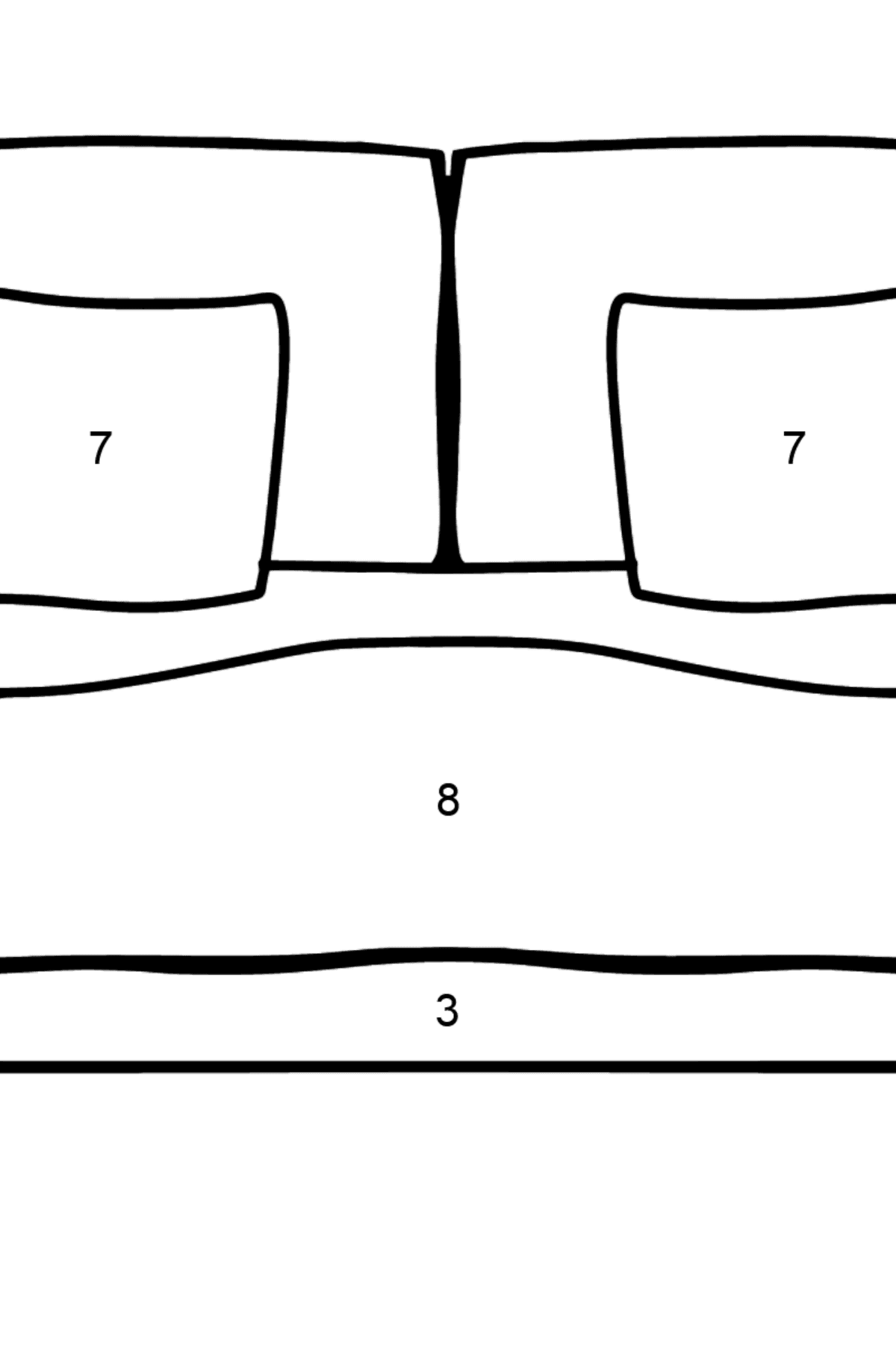Sofa coloring page - Coloring by Numbers for Kids
