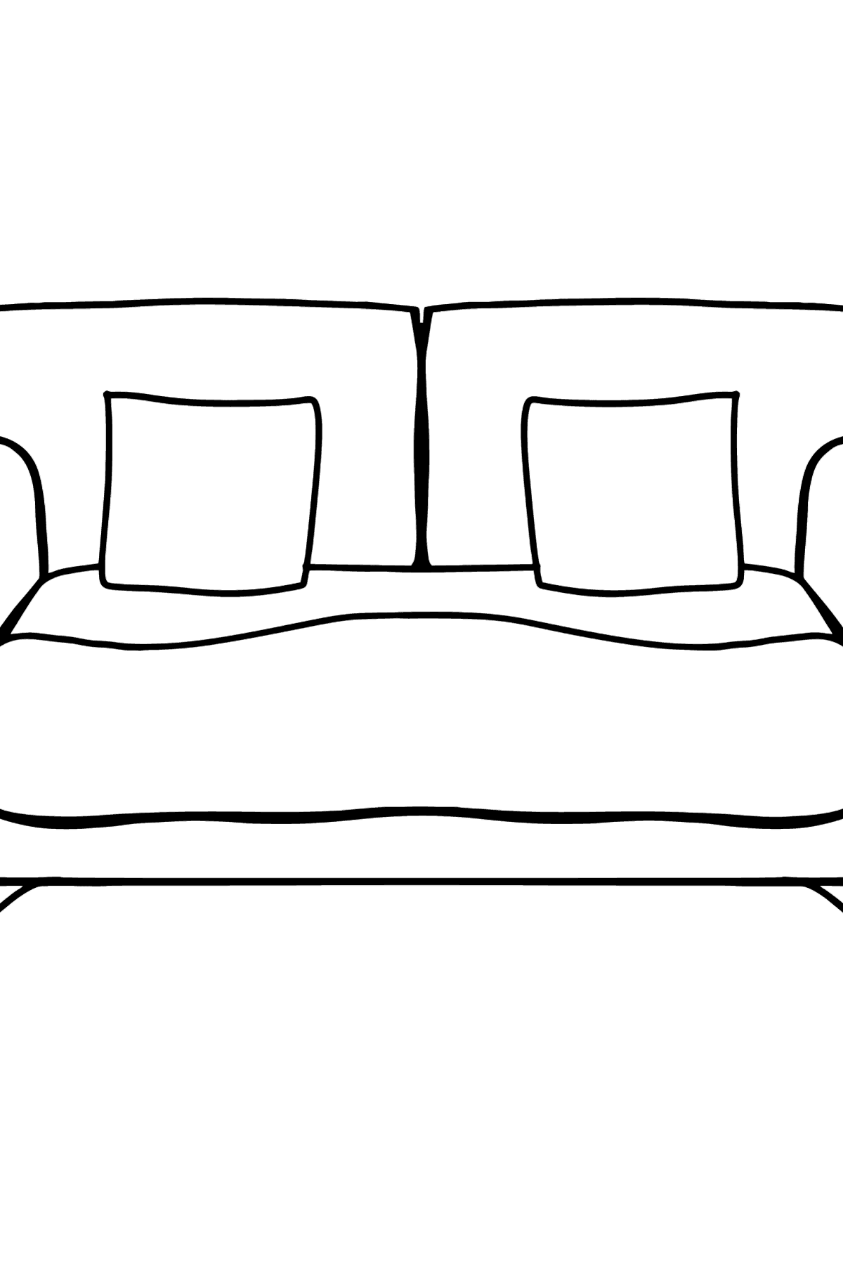 Sofa coloring page - Coloring Pages for Kids