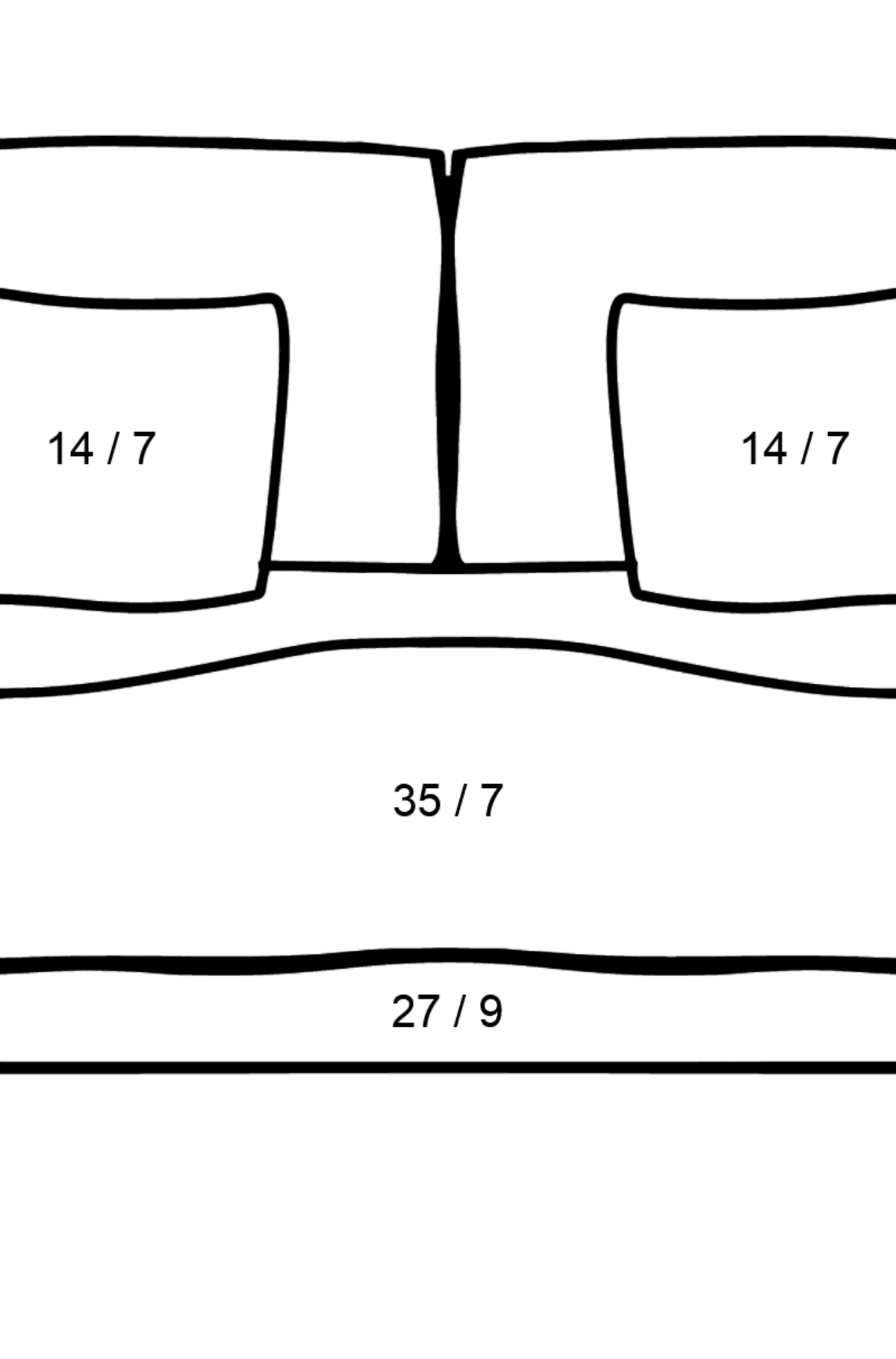 Sofa coloring page - Math Coloring - Division for Kids