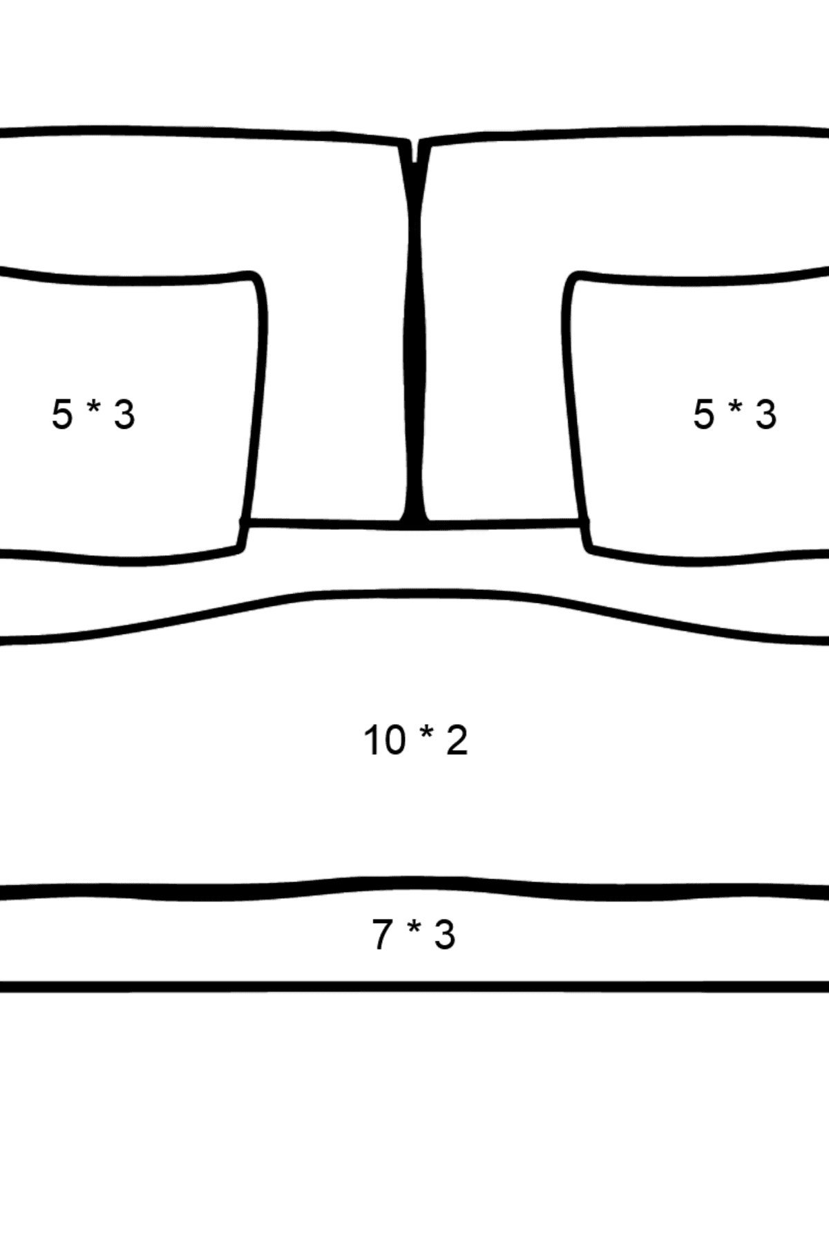 Sofa coloring page - Math Coloring - Multiplication for Kids